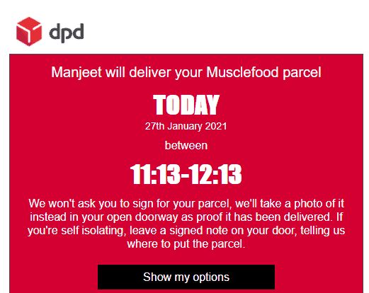 Muscle Food Delivery