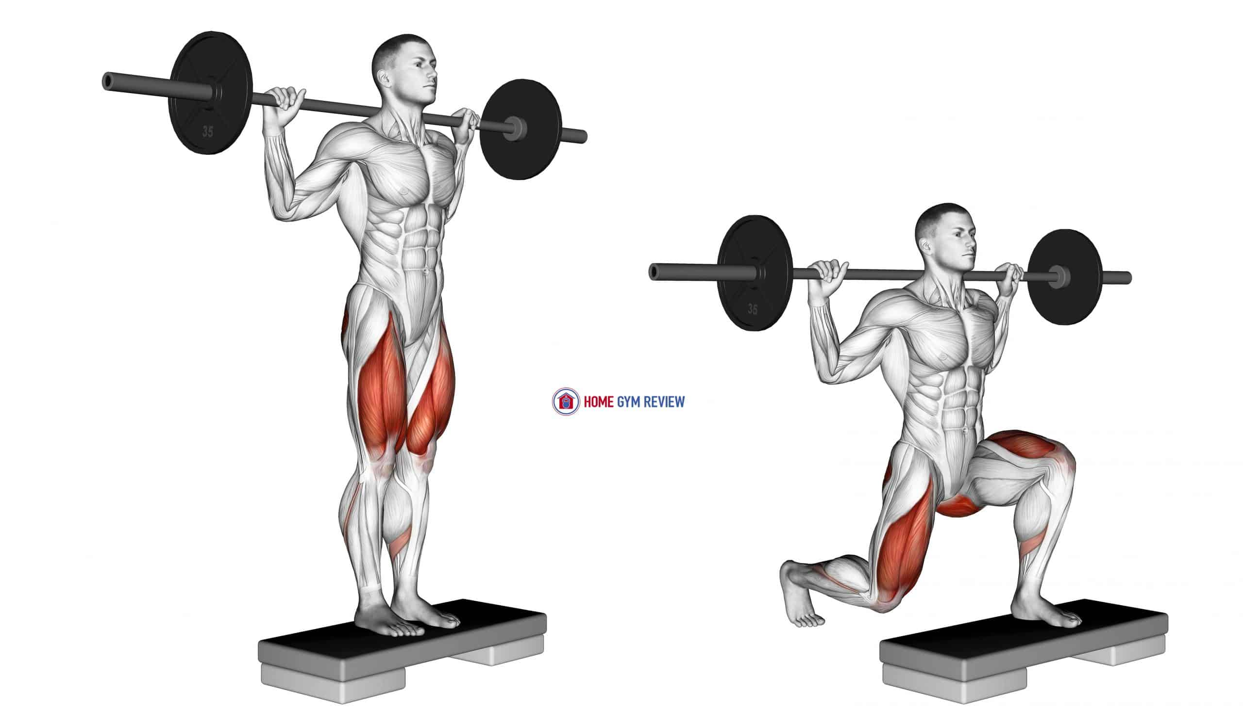 Barbell Rear Lunge (version 2)