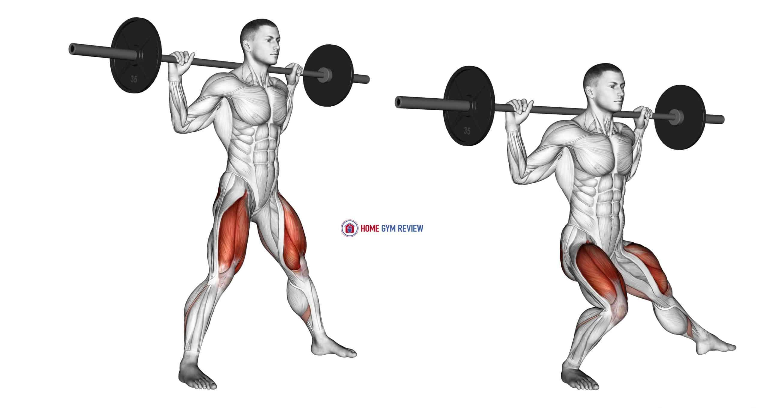 Barbell Side Split Squat (version 2)