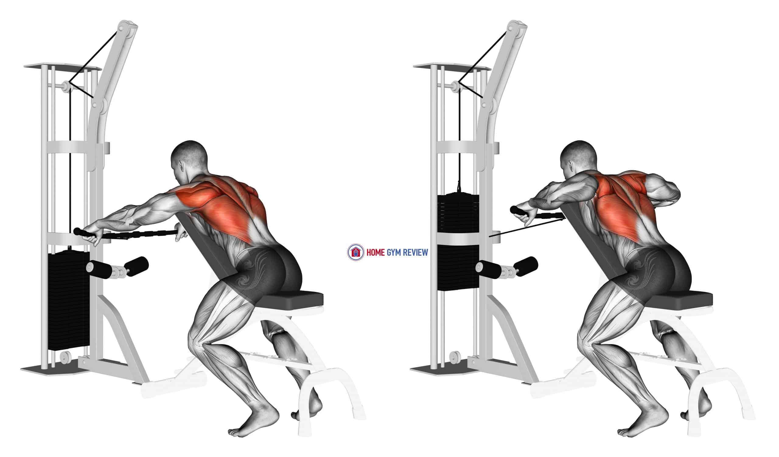 Cable Decline Seated Wide-grip Row