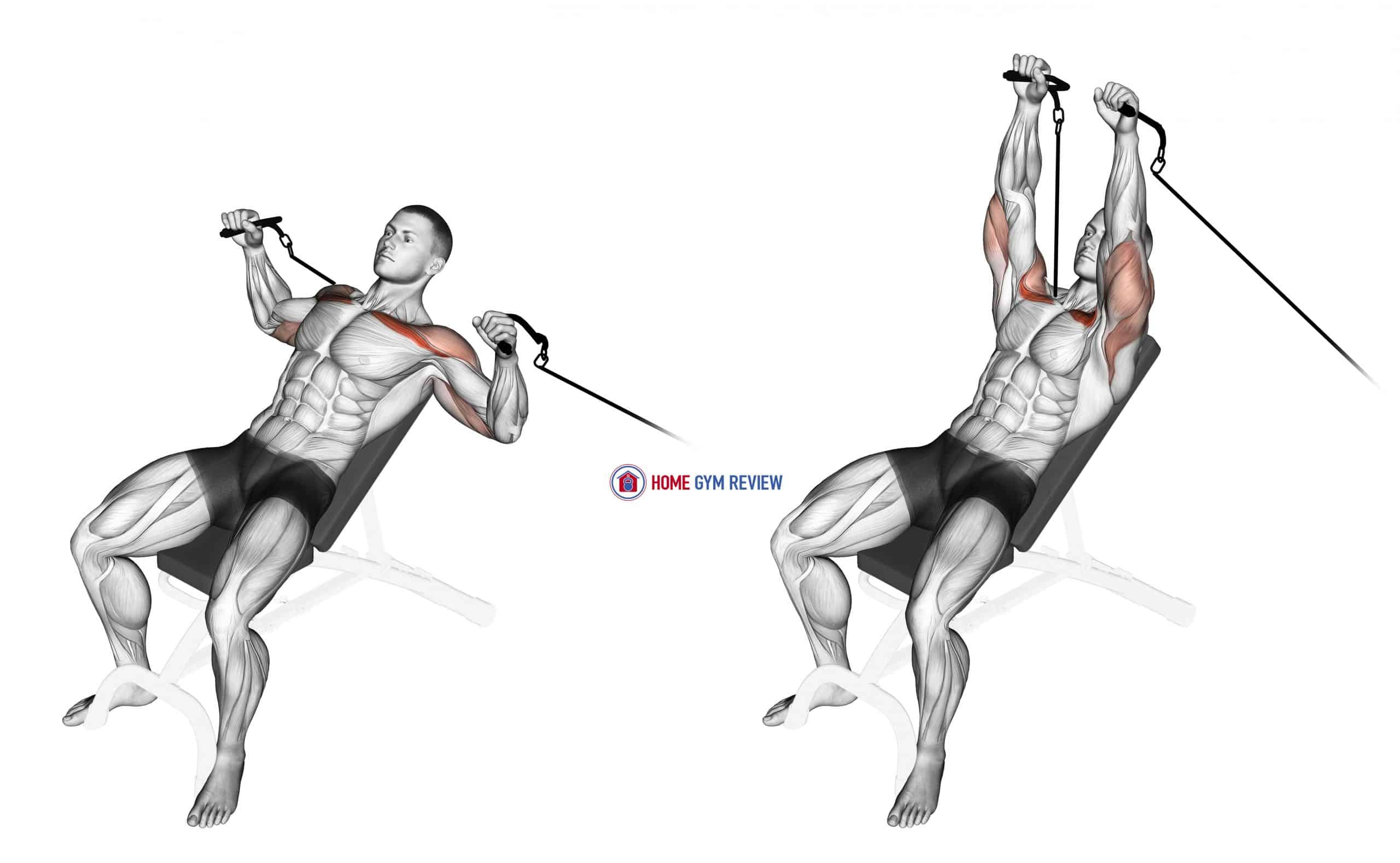 Cable Incline Bench Press
