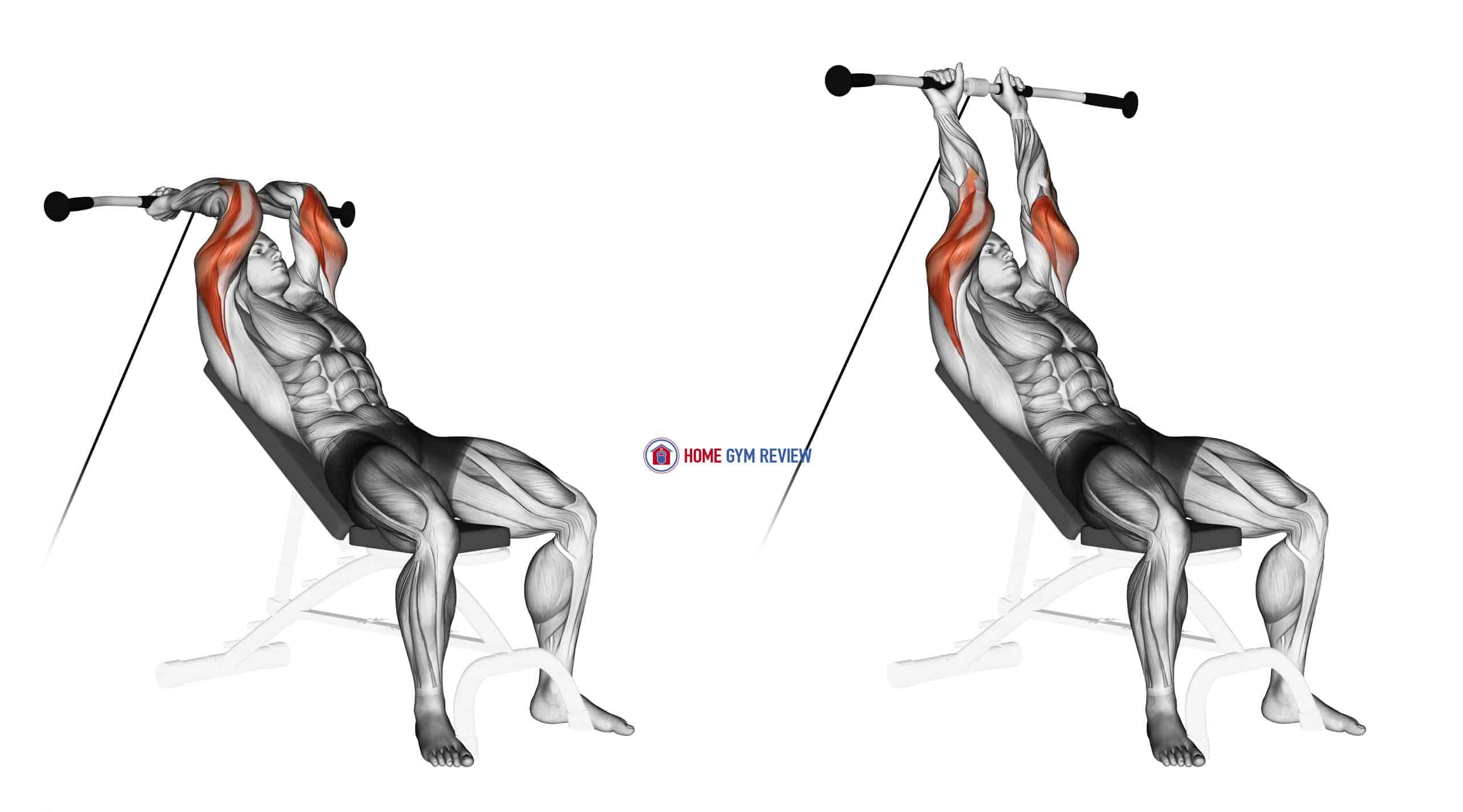 Cable Incline Triceps Extension