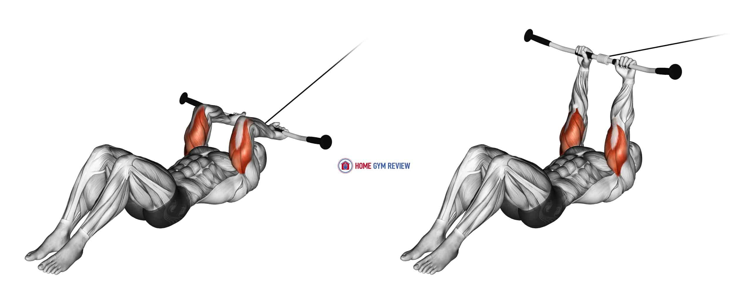 Cable Lying Triceps Extension (version 2)