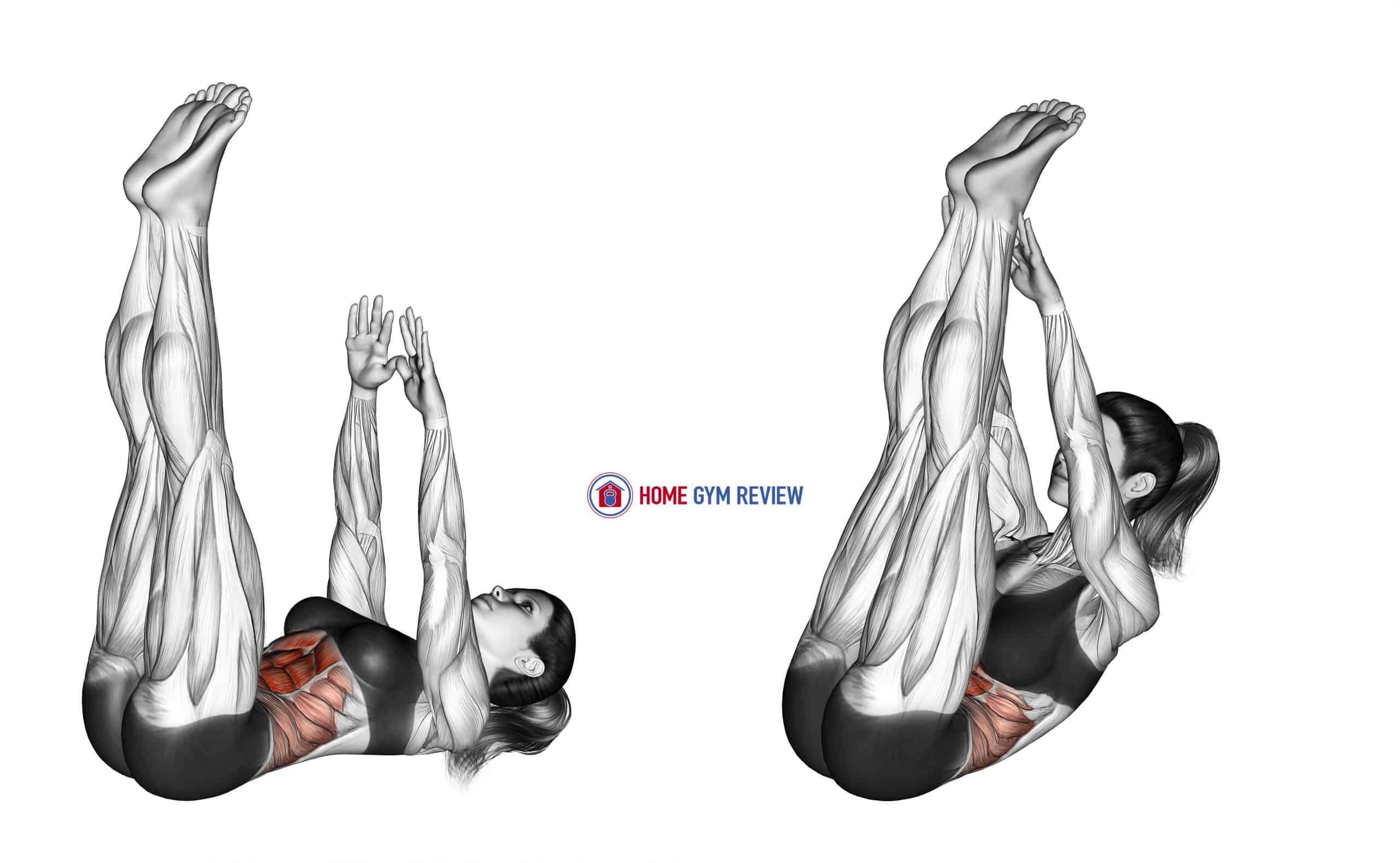 Crunch (straight leg-up)