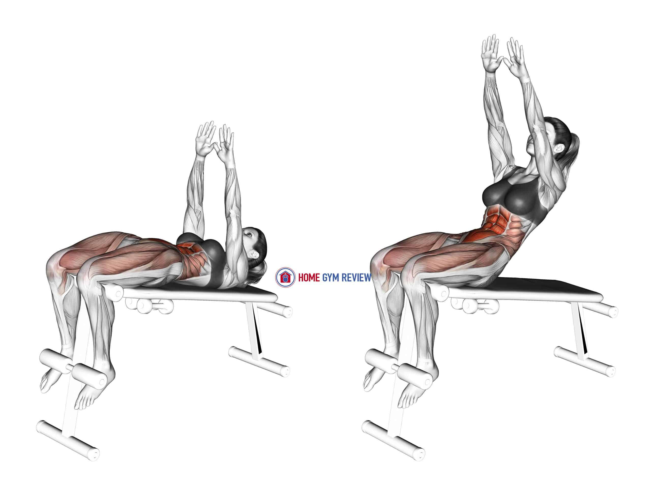 Decline Sit-up (arms straight)