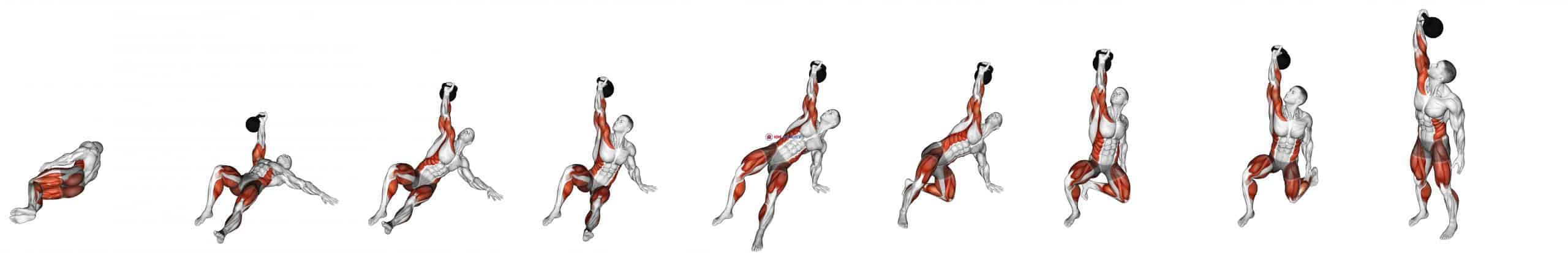 Kettlebell Turkish Get Up (Squat style)