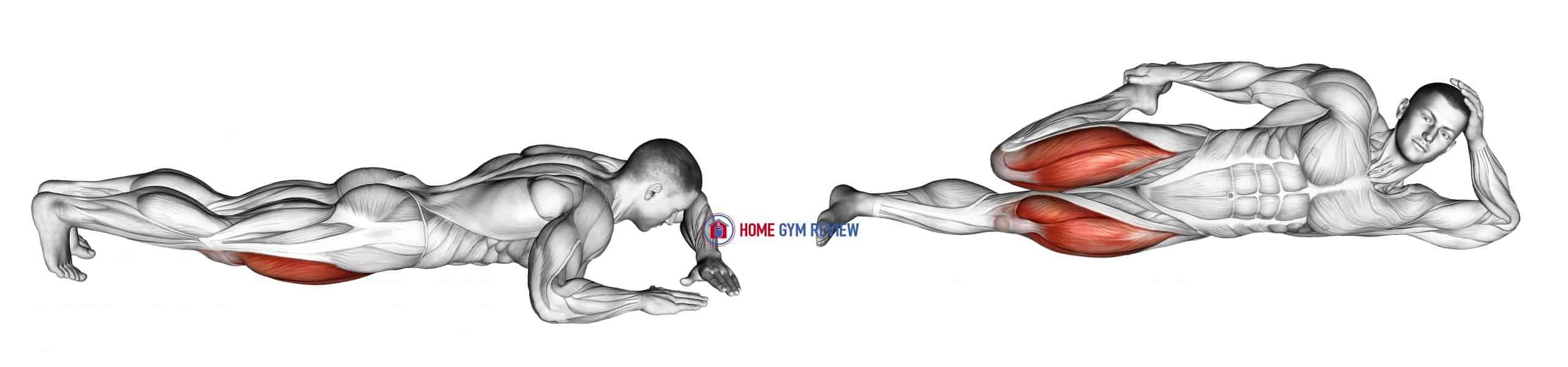 Lying (side) Quadriceps Stretch