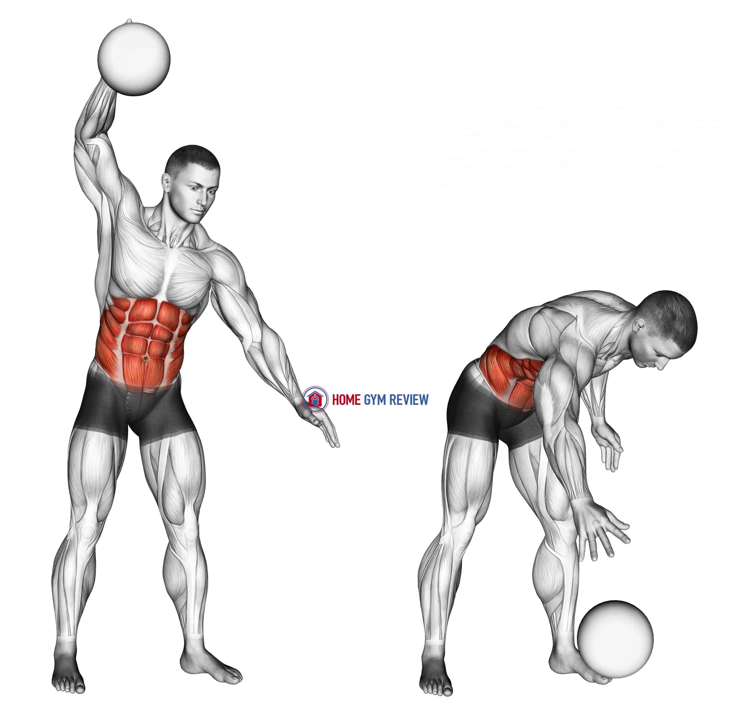 One Arm Slam (with medicine ball)