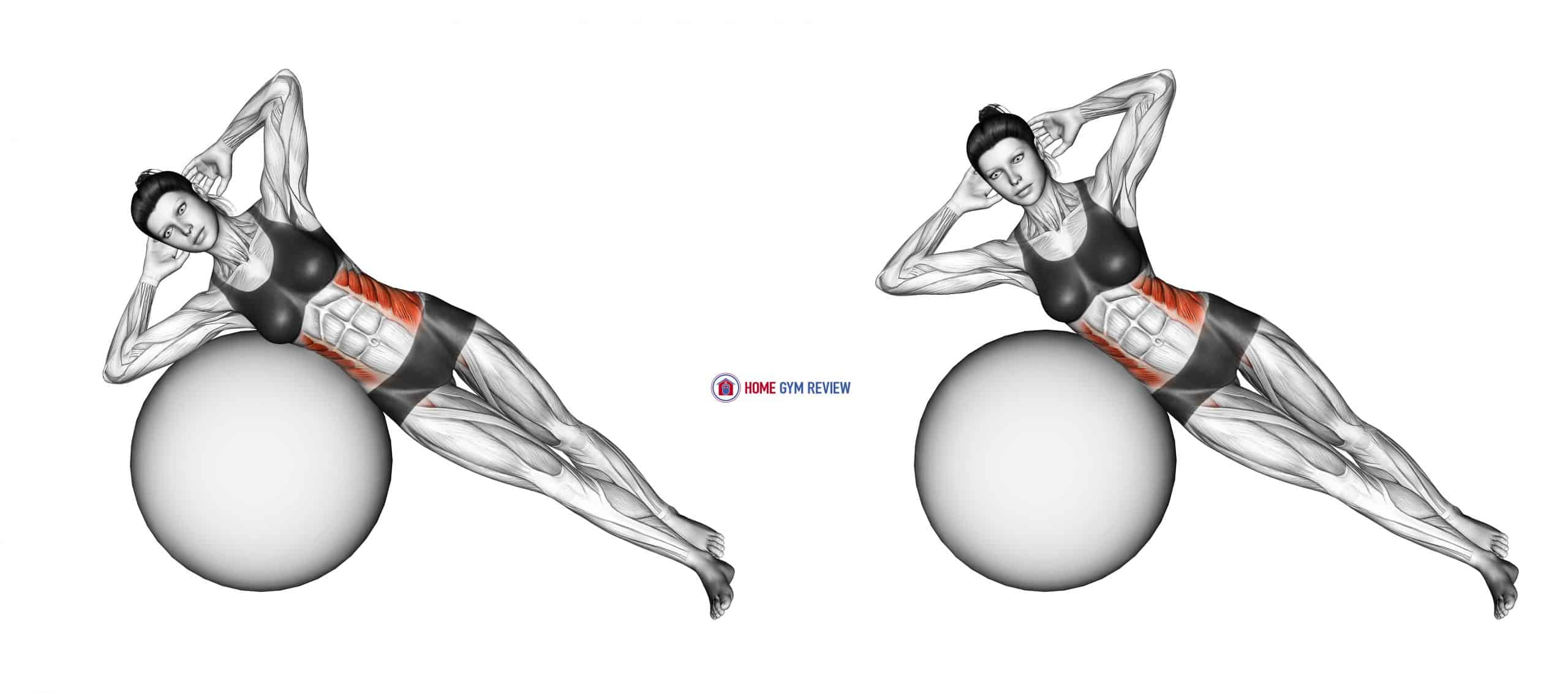 Side Bend (on stability ball)