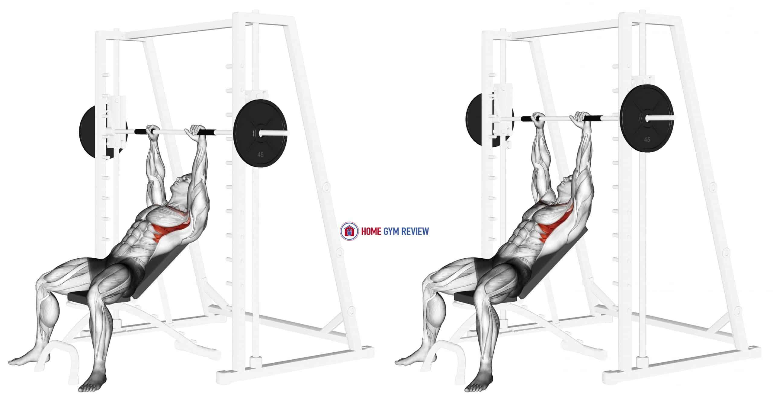 Smith Incline Shoulder Raises