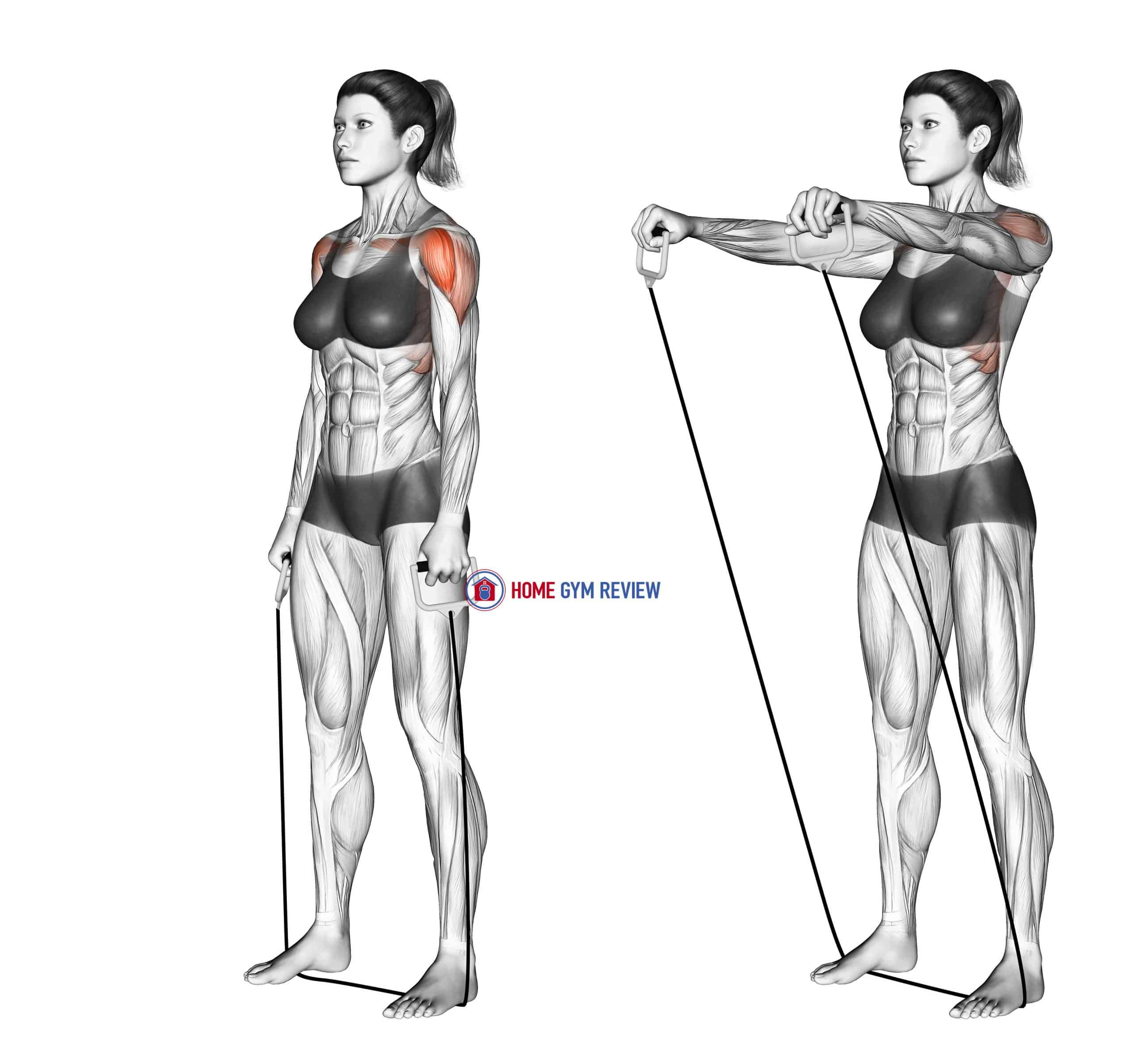 Standing Lateral Raise (with band)