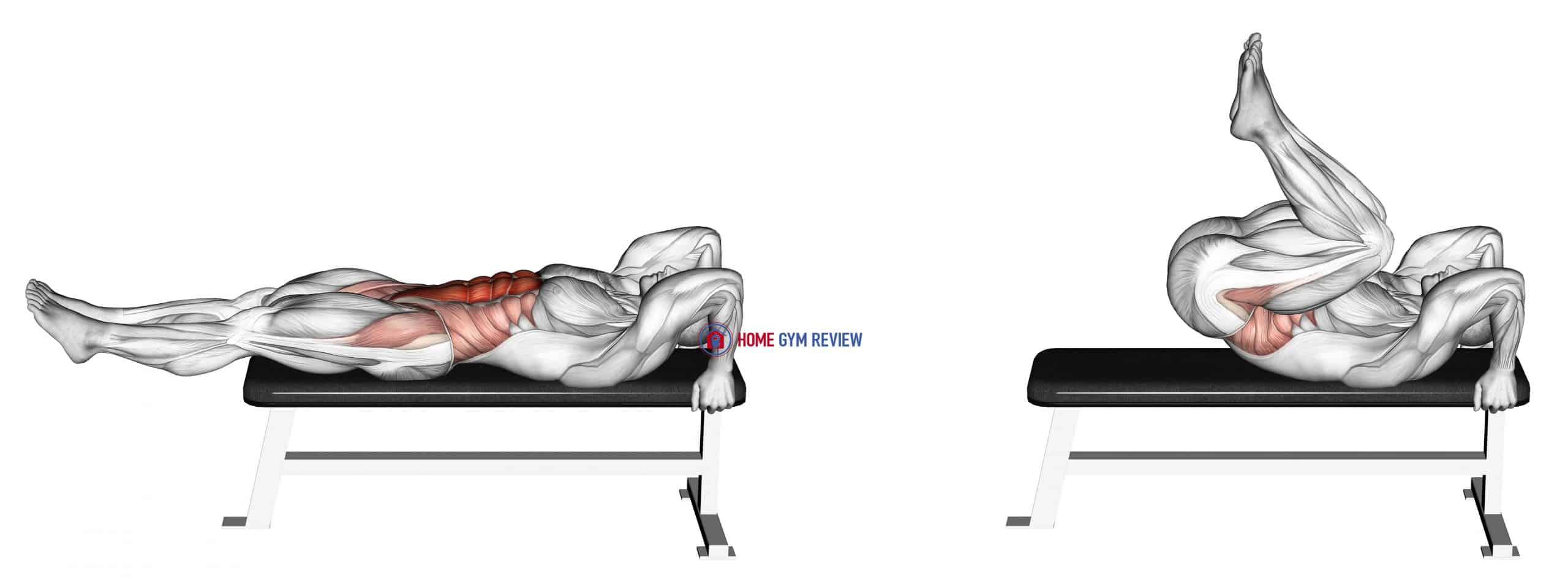 Lying leg-hip raise