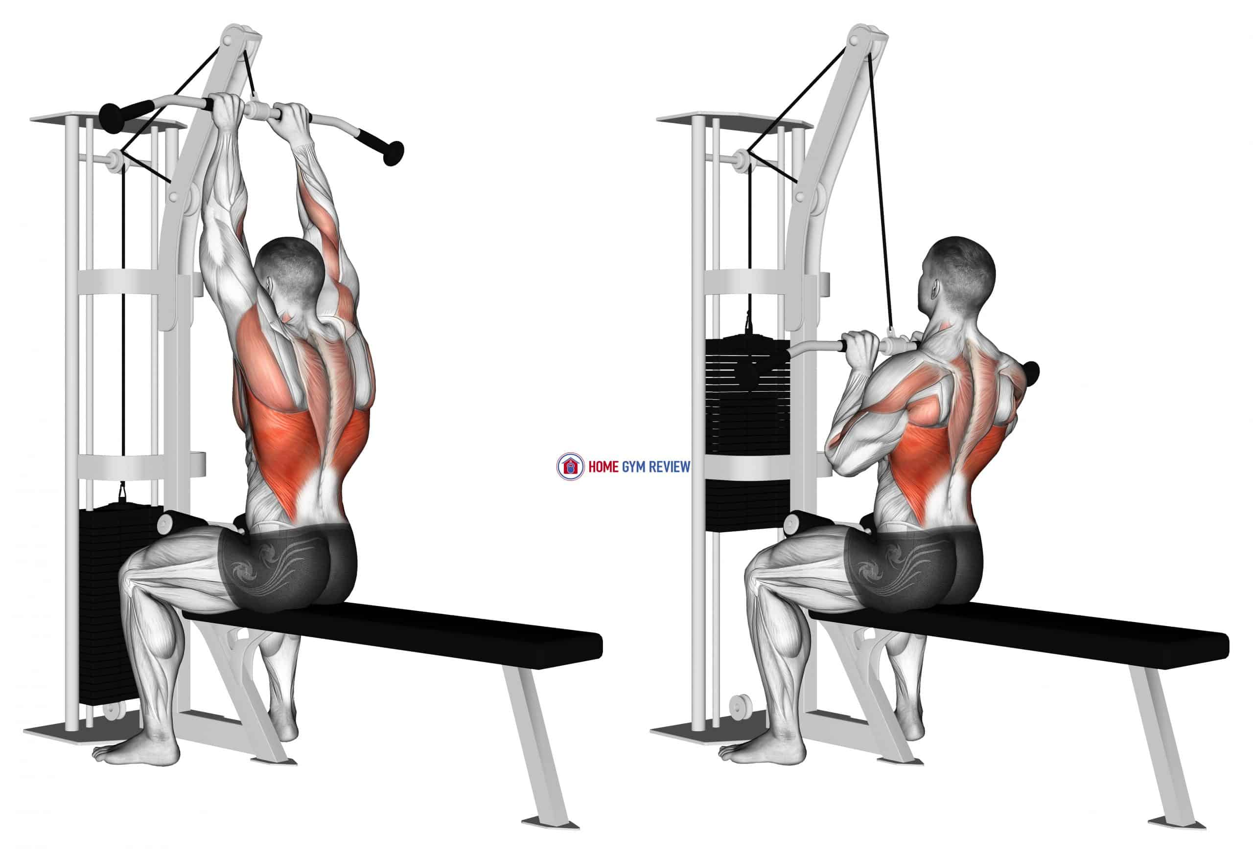 Cable Close-Grip Front Lat Pulldown
