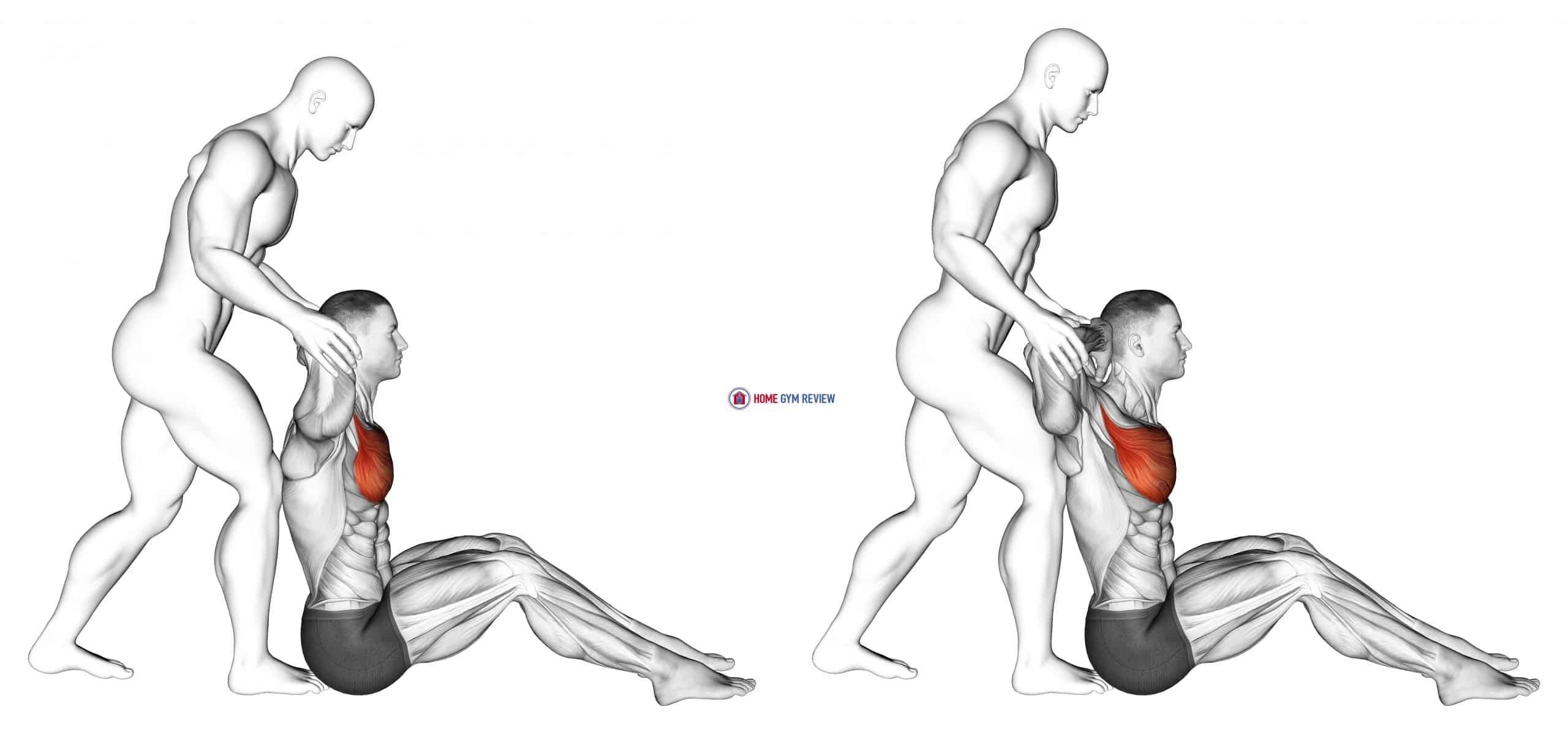 Behind Head Chest Stretch
