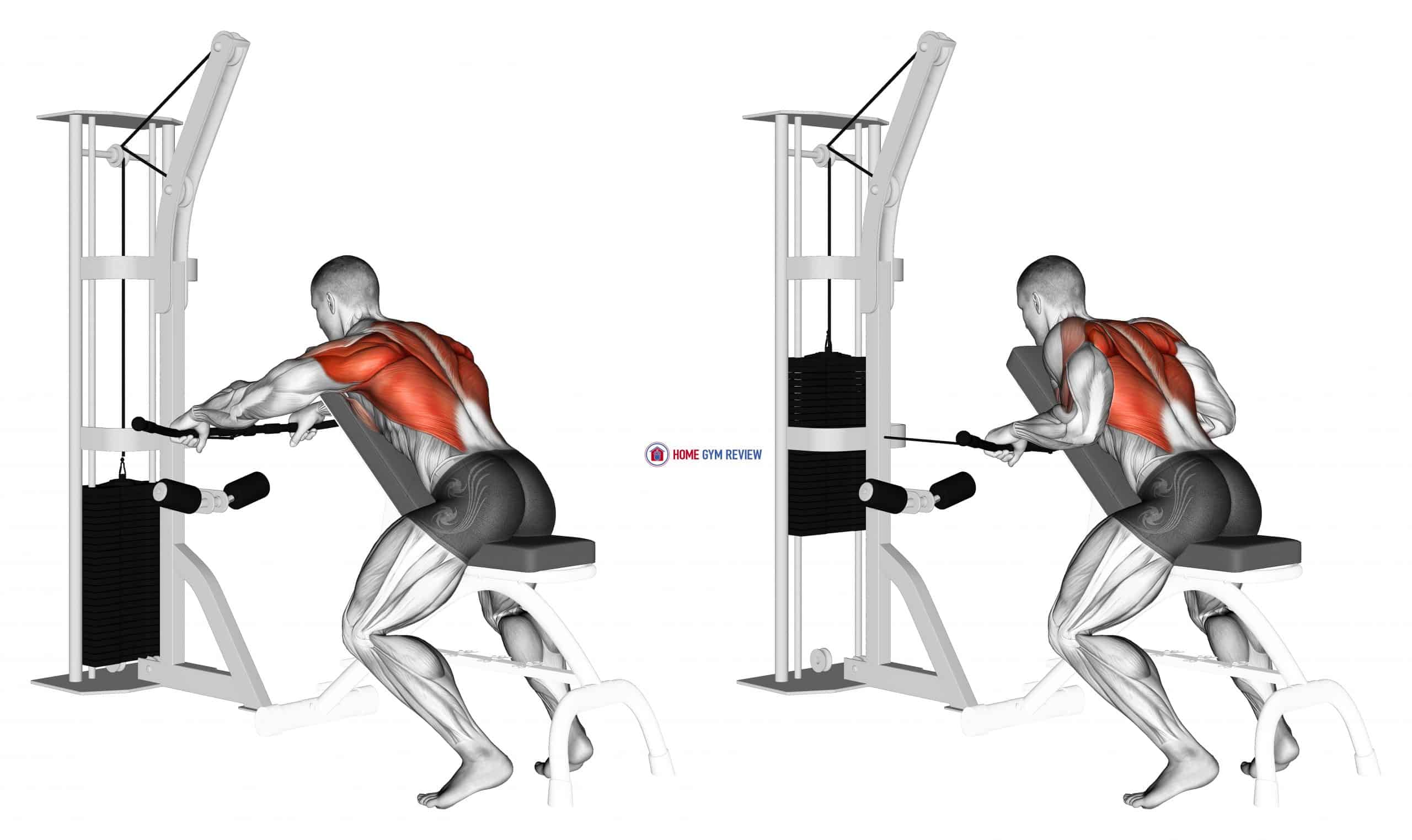 Cable Incline Bench Row