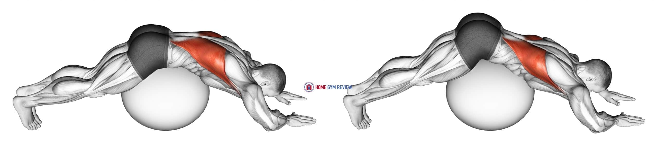Exercise Ball Lower Back Stretch (Pyramid)