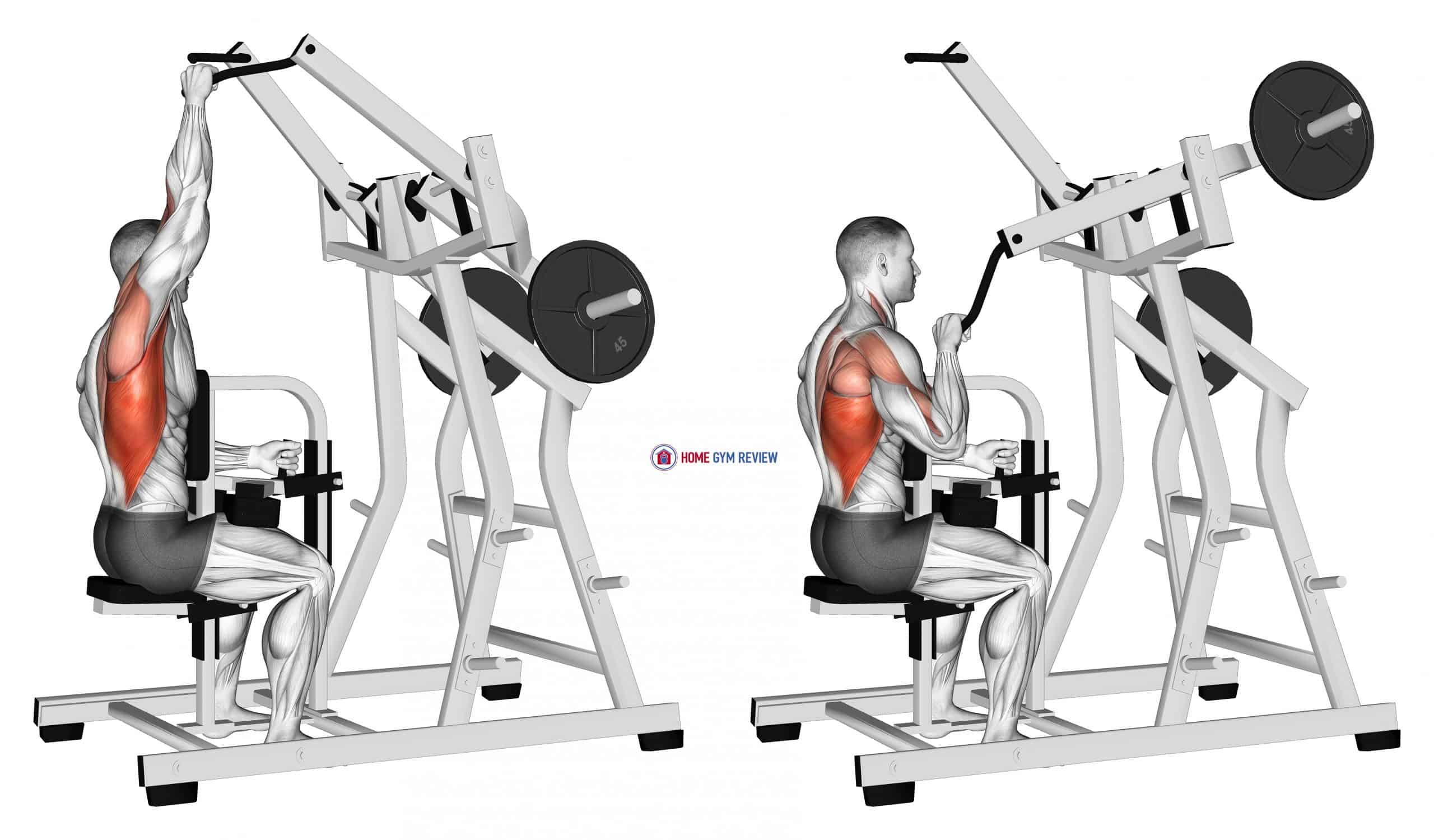 Lever One Arm Lateral Wide Pulldown (plate loaded)