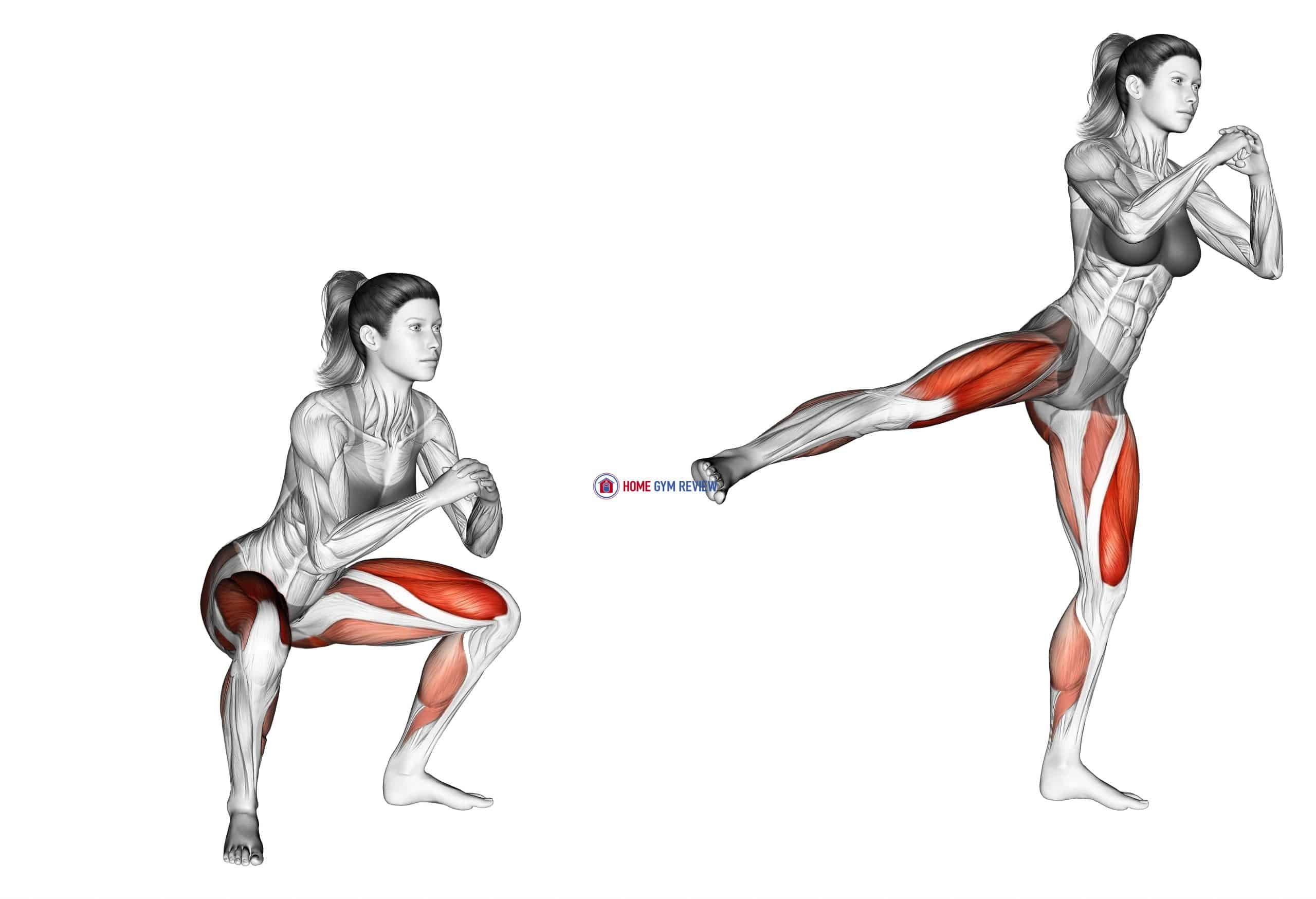 Squat side kick