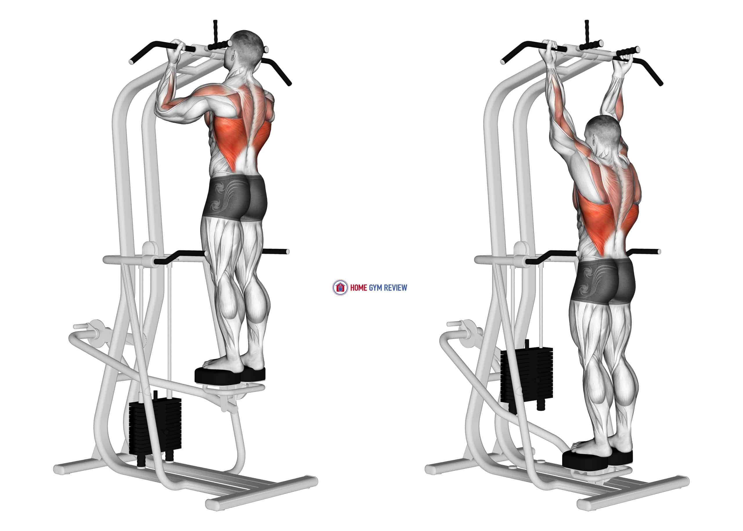 Lever Assisted Standing Chin Up