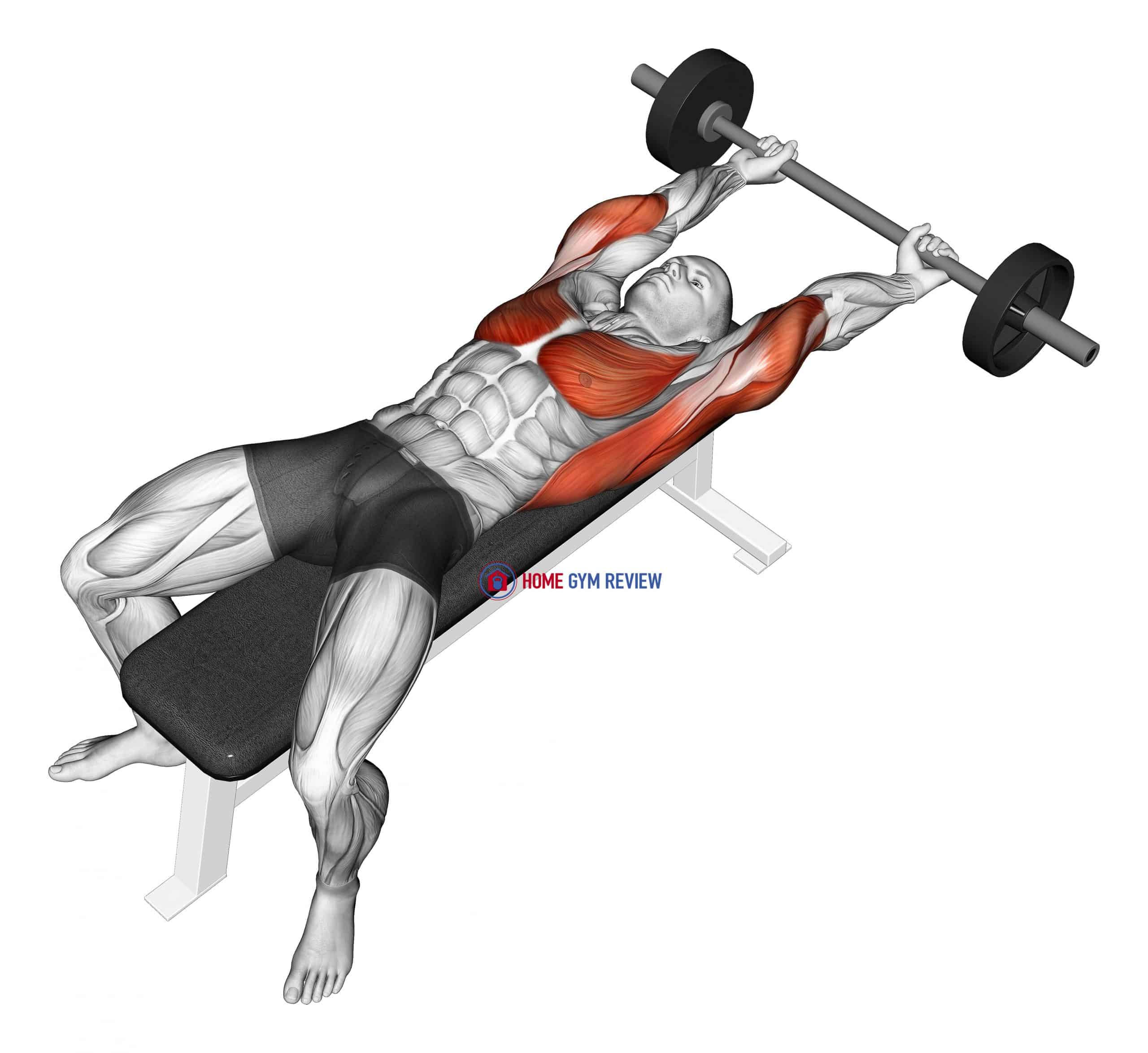Barbell Pullover Hold Isometric