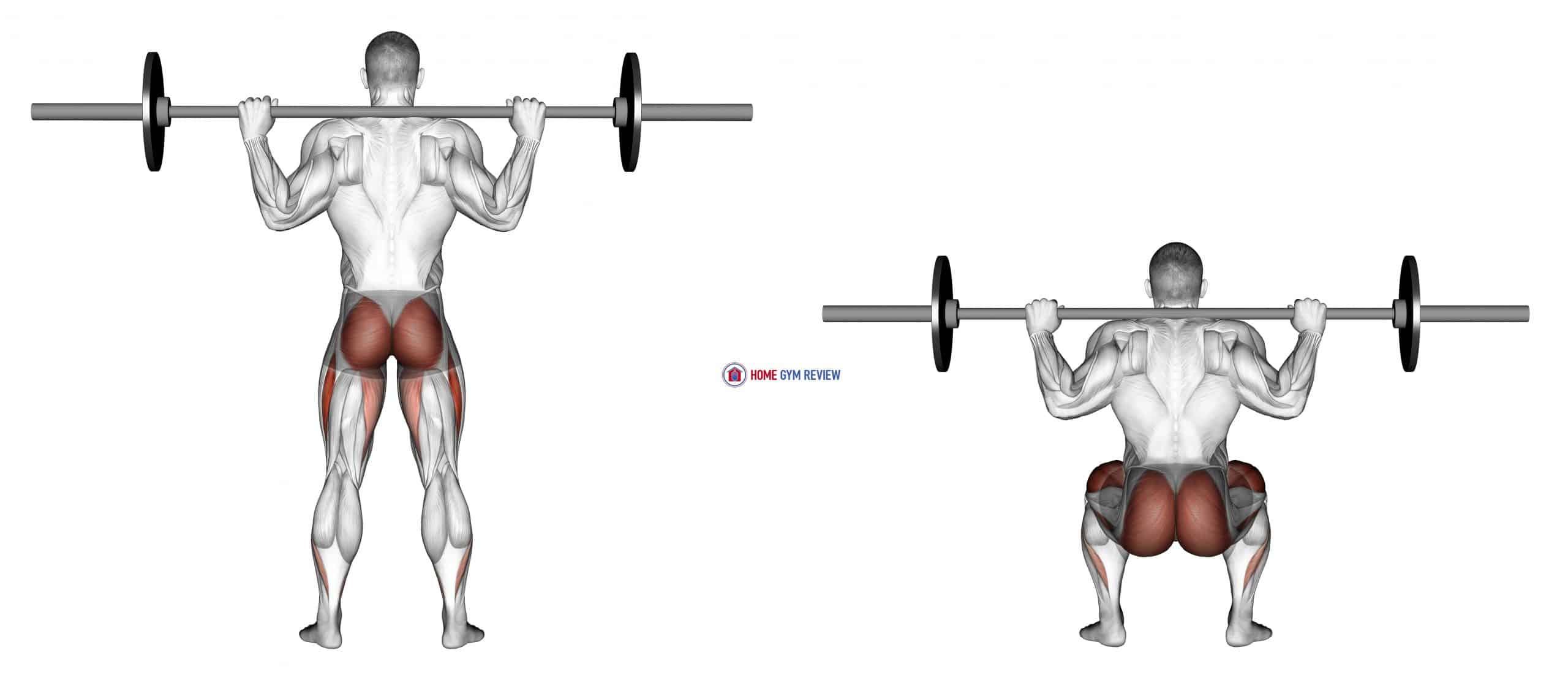 Barbell Full Squat (Back POV)