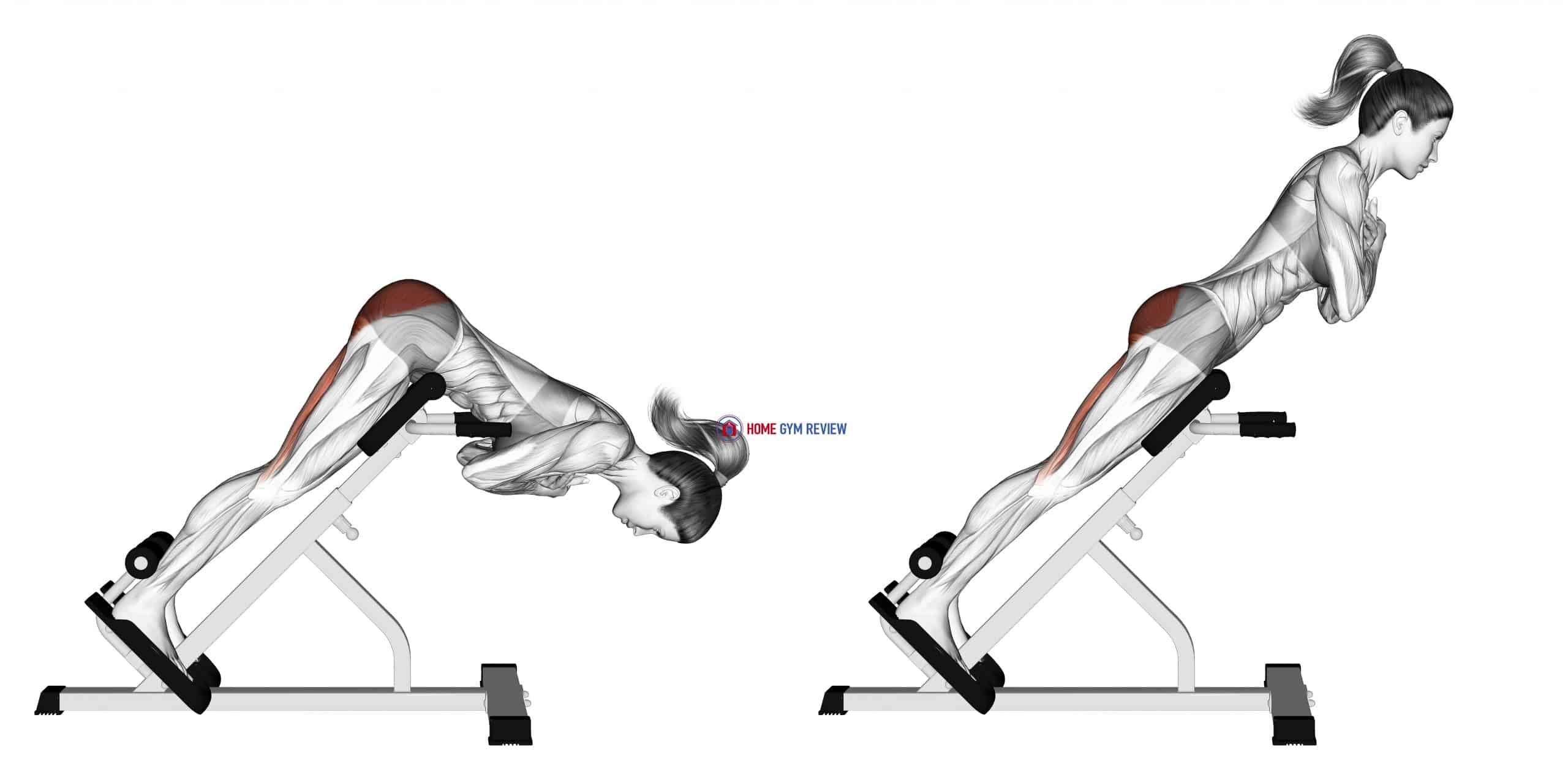 45 degree hyperextension (arms in front of chest) (Side-POV)