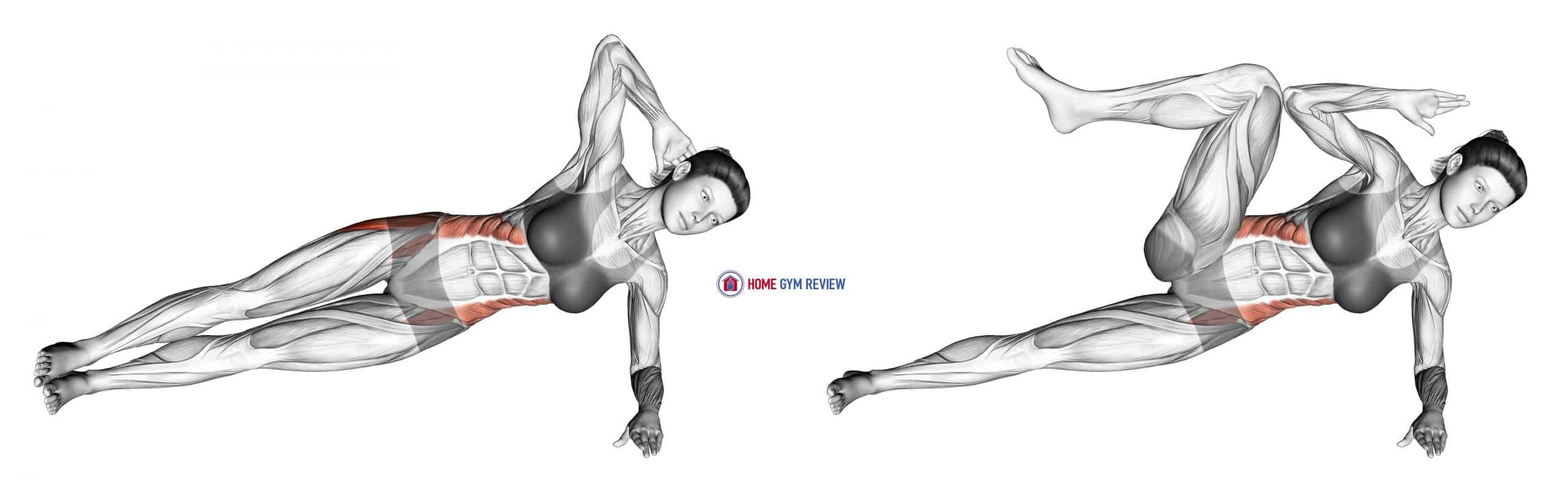 Lateral Side Plank (bent leg)