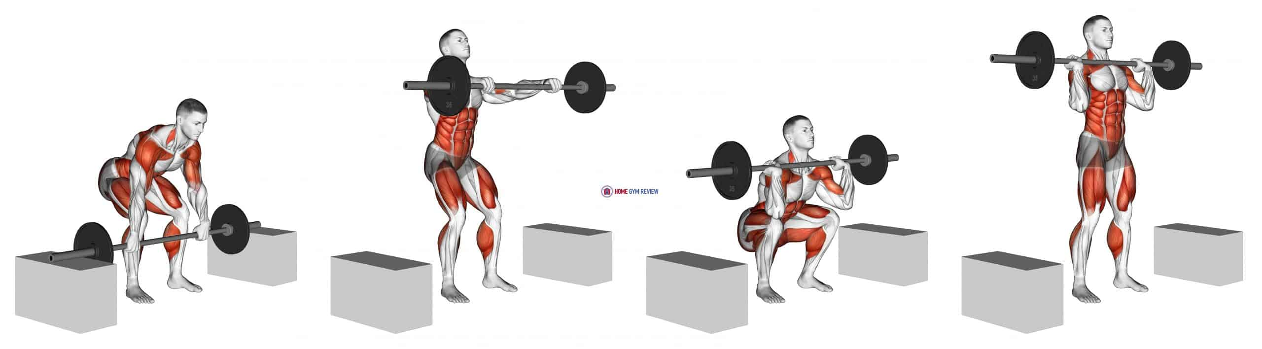 Barbell Clean From Blocks