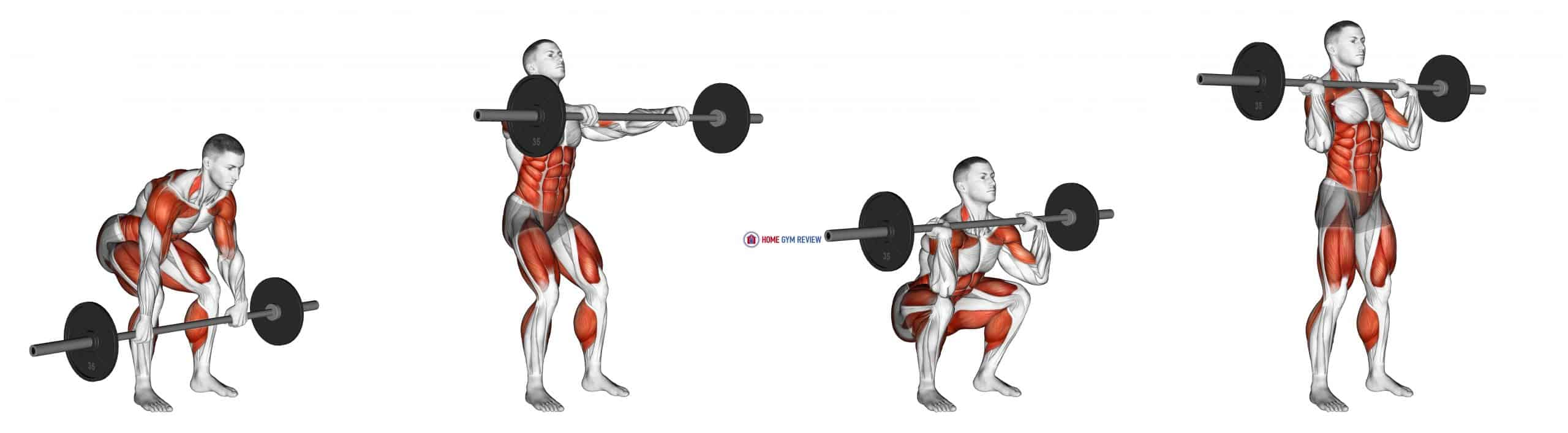 Barbell Hang Clean Below the Knees