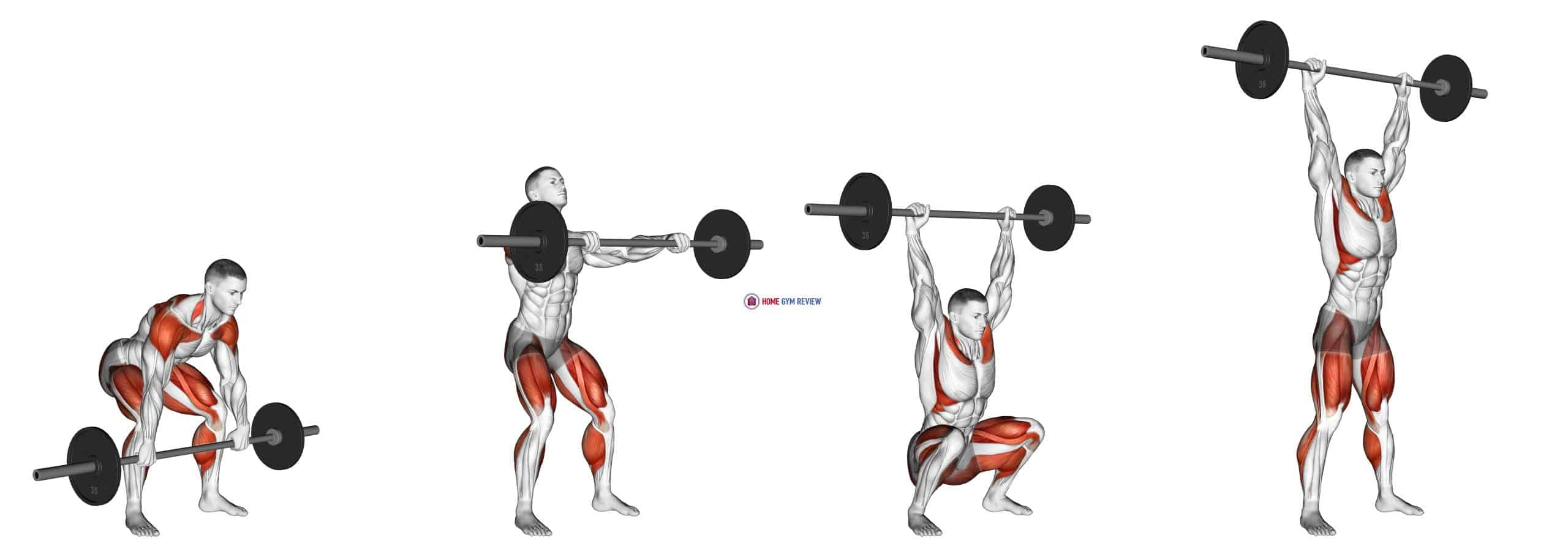 Barbell Hang Snatch Below the Knees