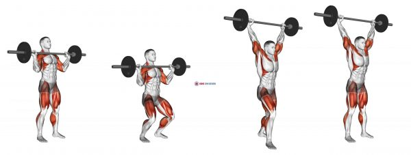 Barbell Split Jerk