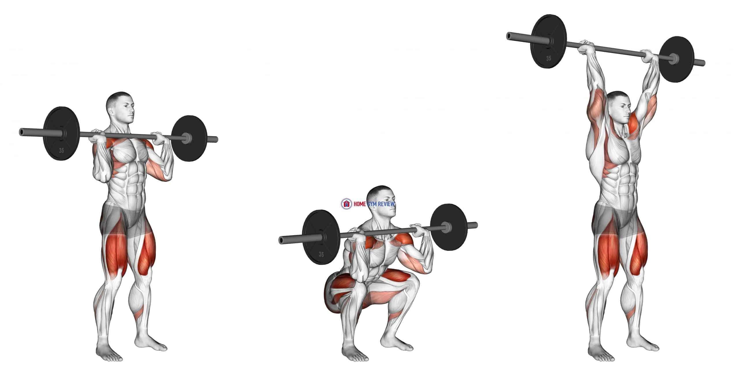 Barbell Squat to Shoulder Press