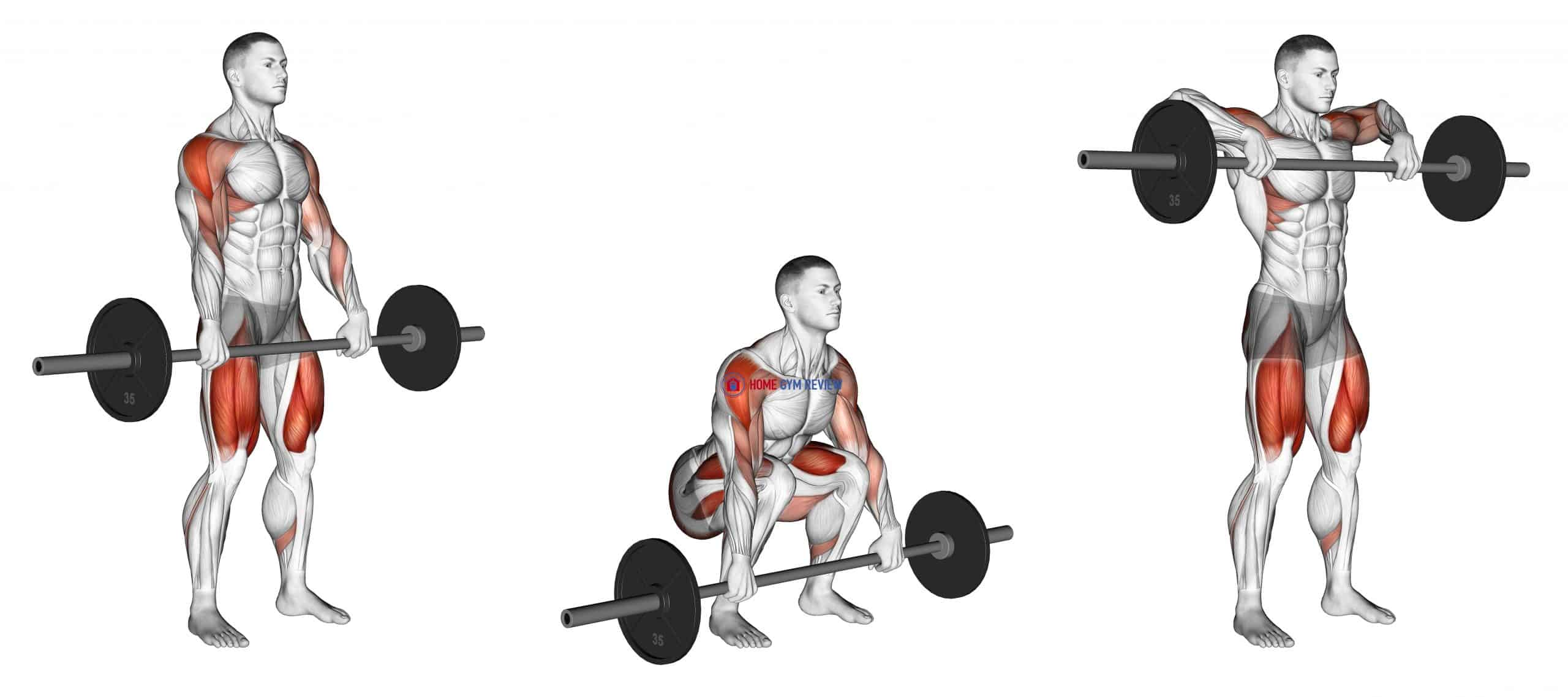 Barbell Squat to Upright Row