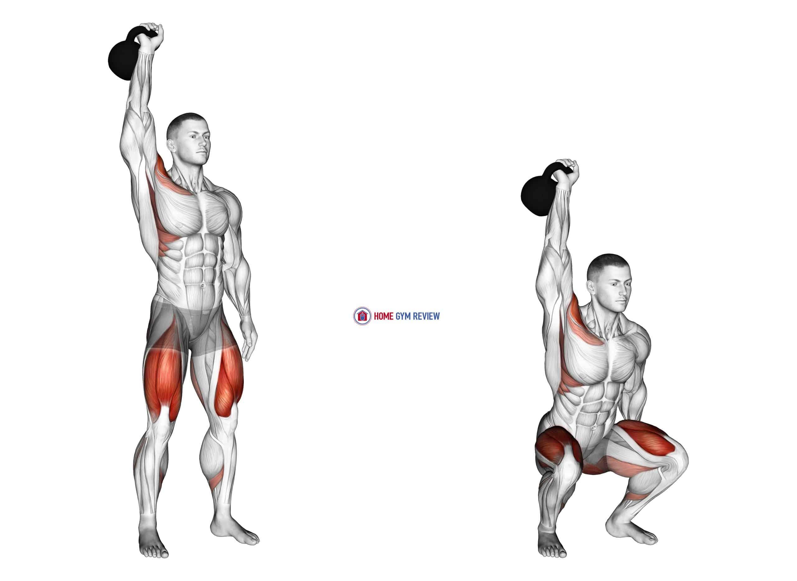 Kettlebell One Arm Overhead Squat