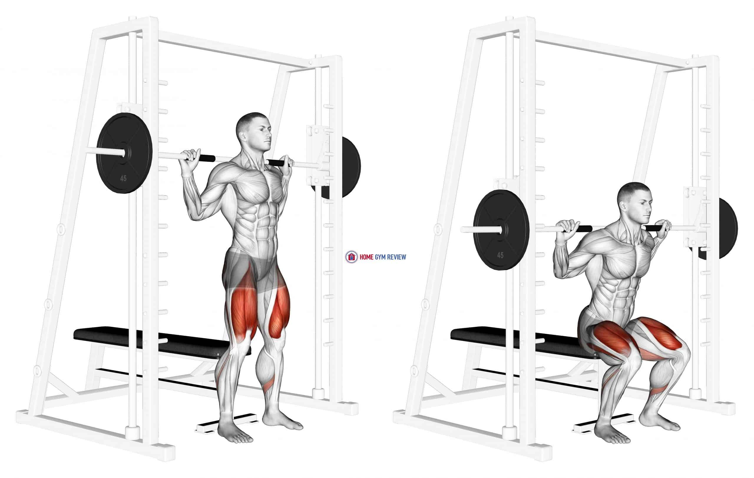 Smith Squat to Bench