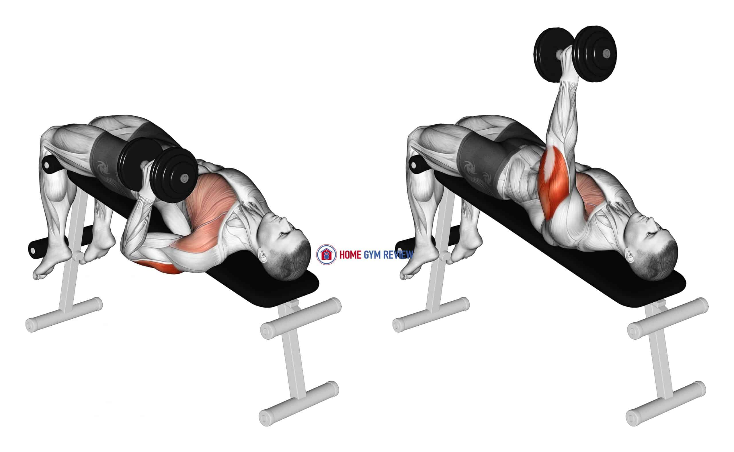 Dumbbell Decline One Arm Hammer Press