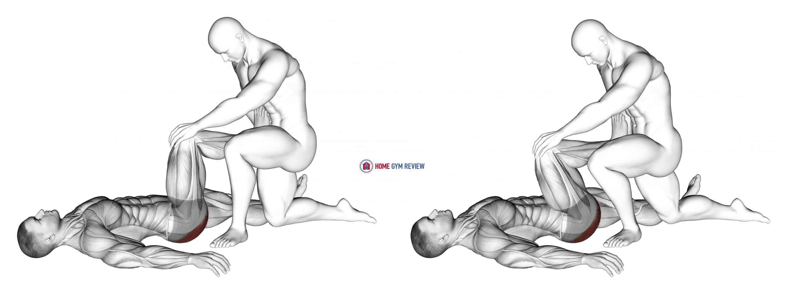 Assisted Lying Gluteus Maximus Stretch