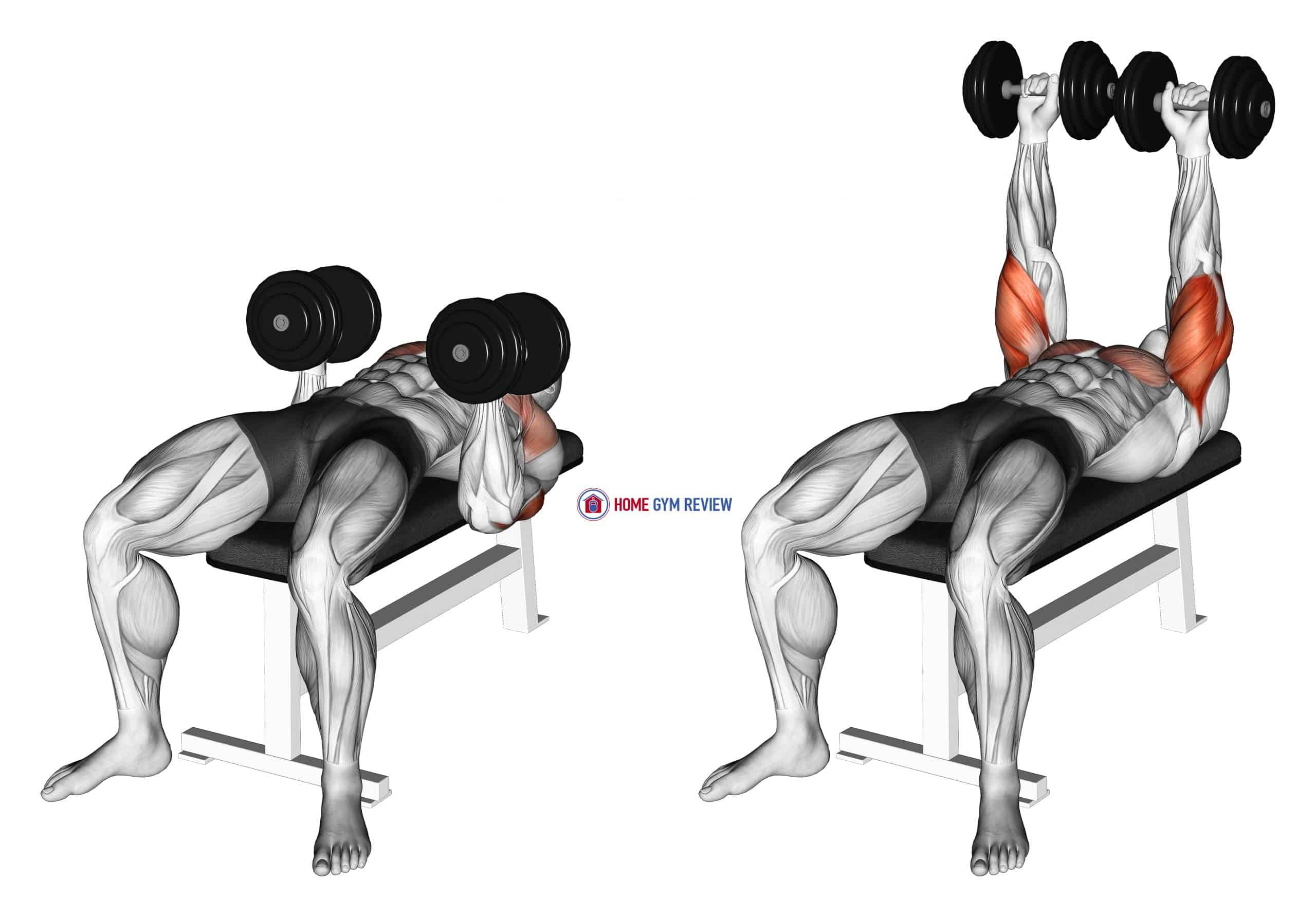 Dumbbell Twisting Bench Press