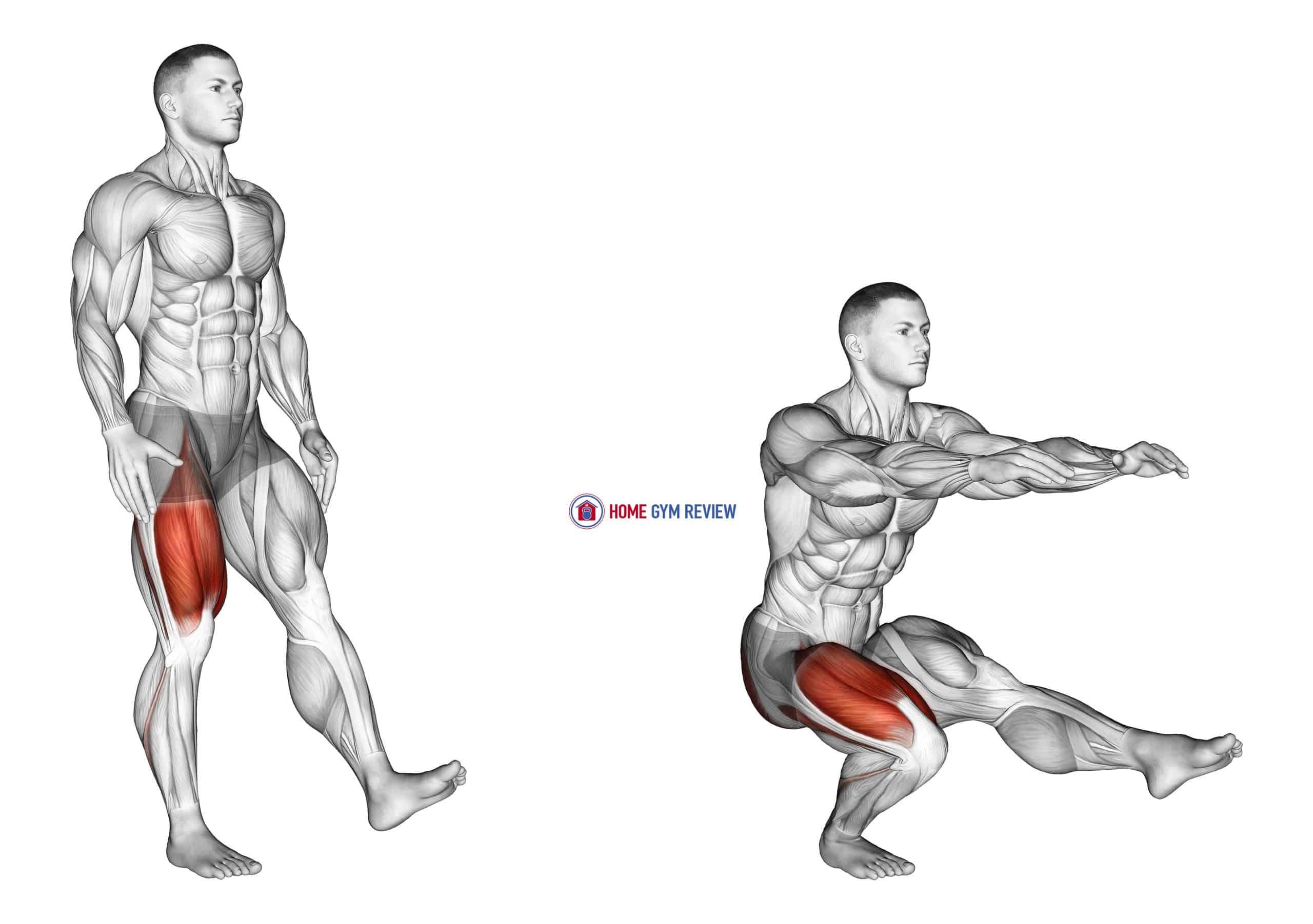 Single Leg Squat (pistol) male