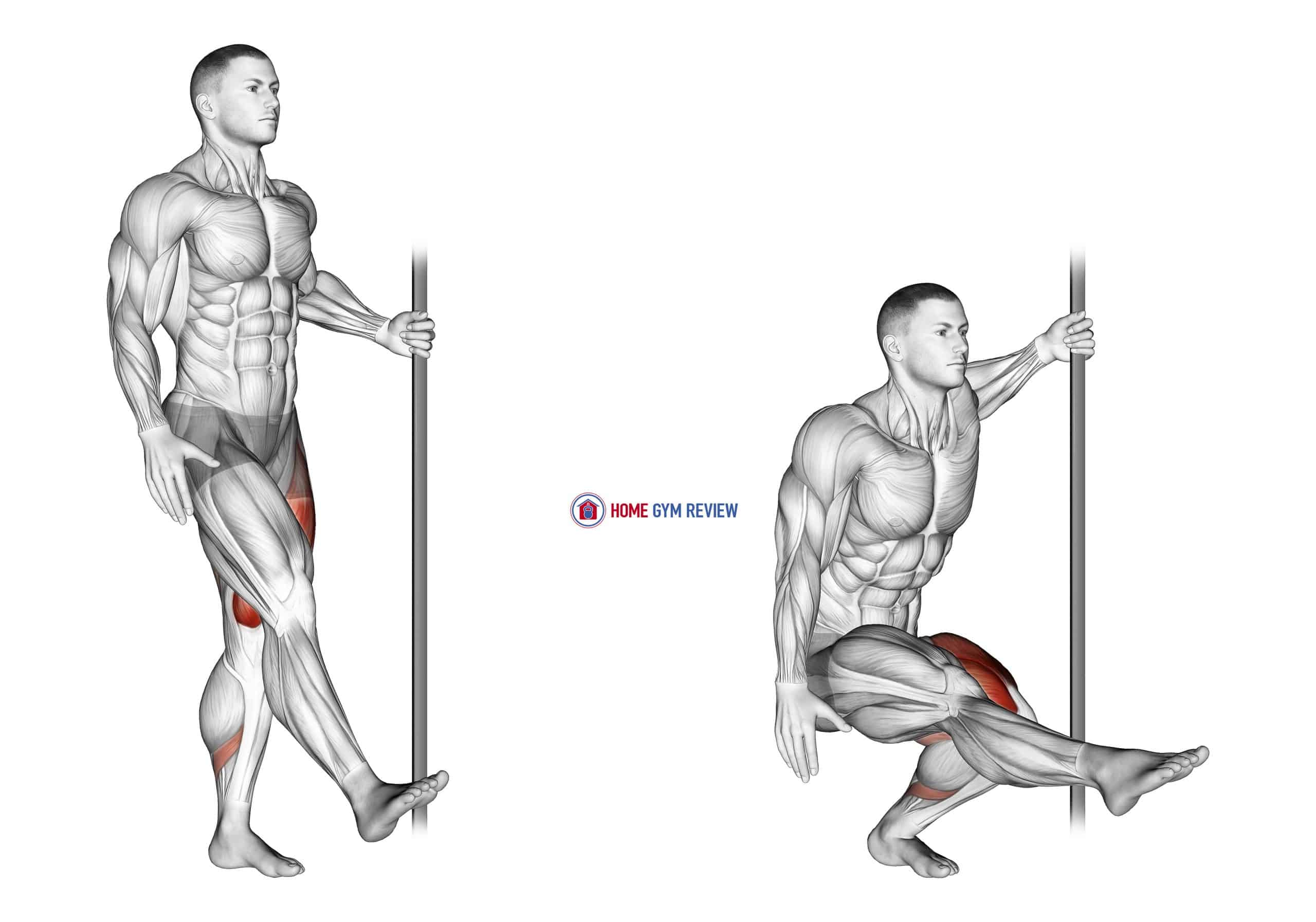 Single Leg Squat with Support (pistol)