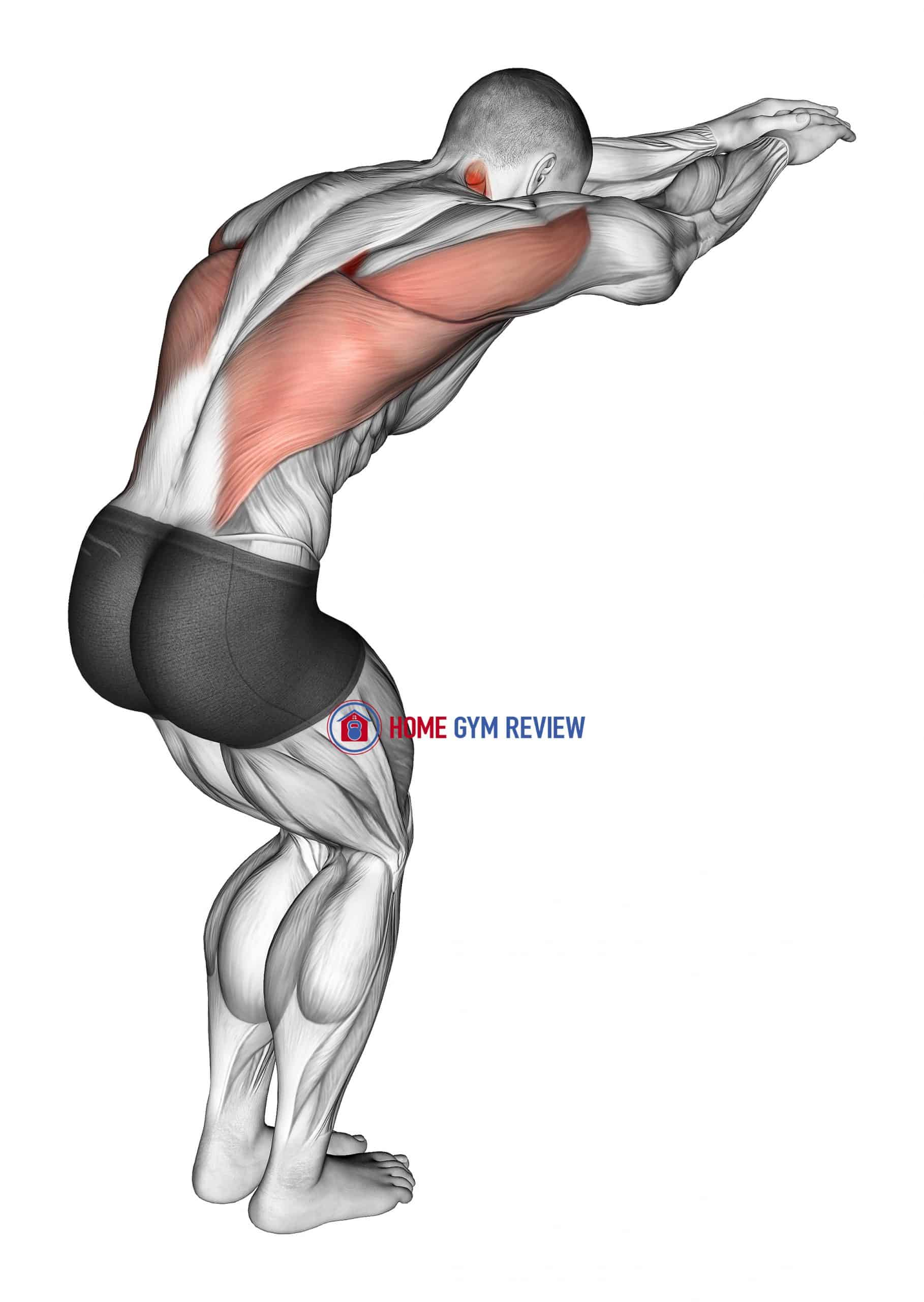 Reach forward upper back stretch
