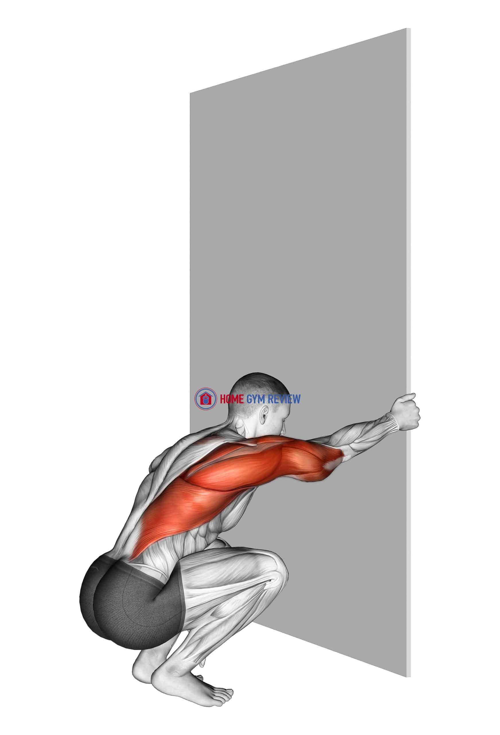 Reaching upper back stretch