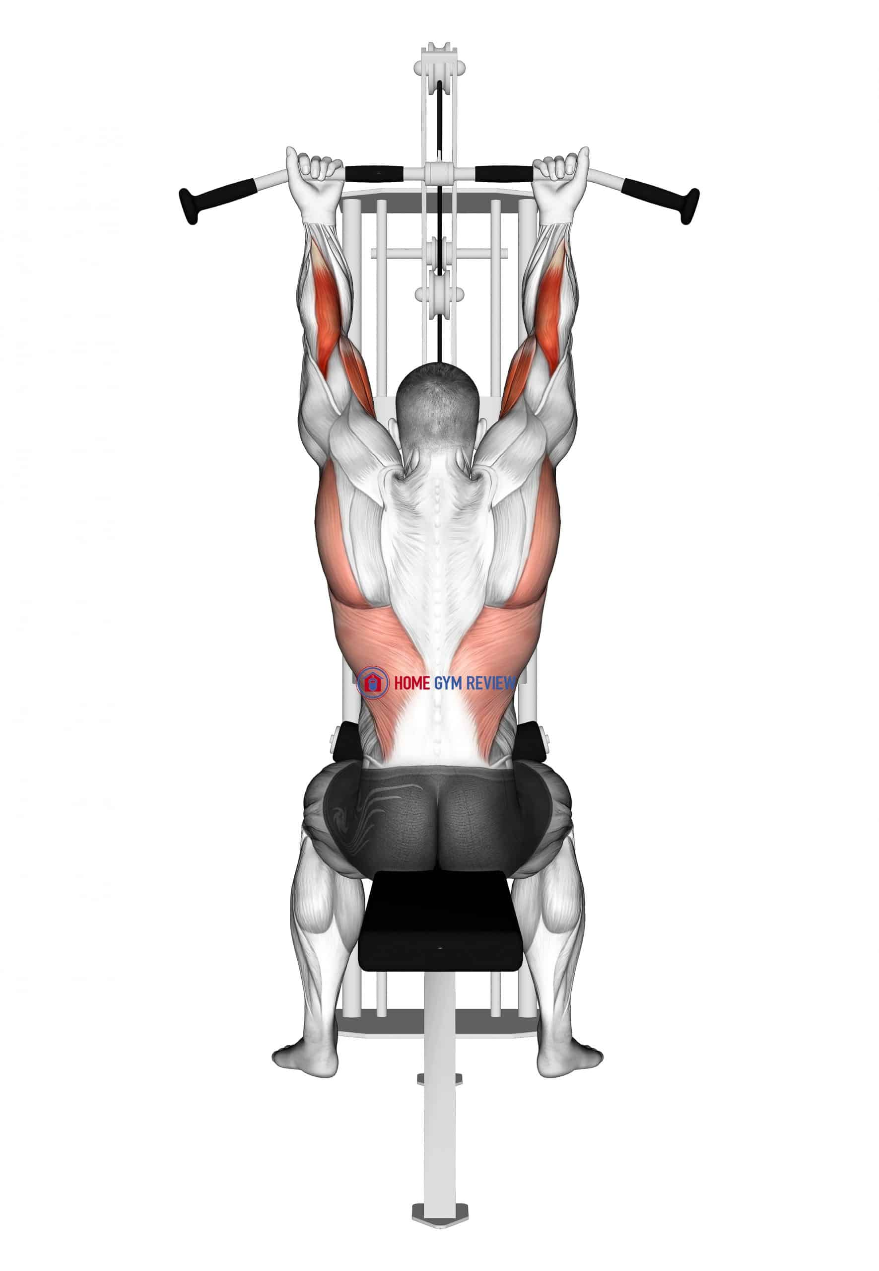 Suspension In Pulley Machine In Supination Stretch