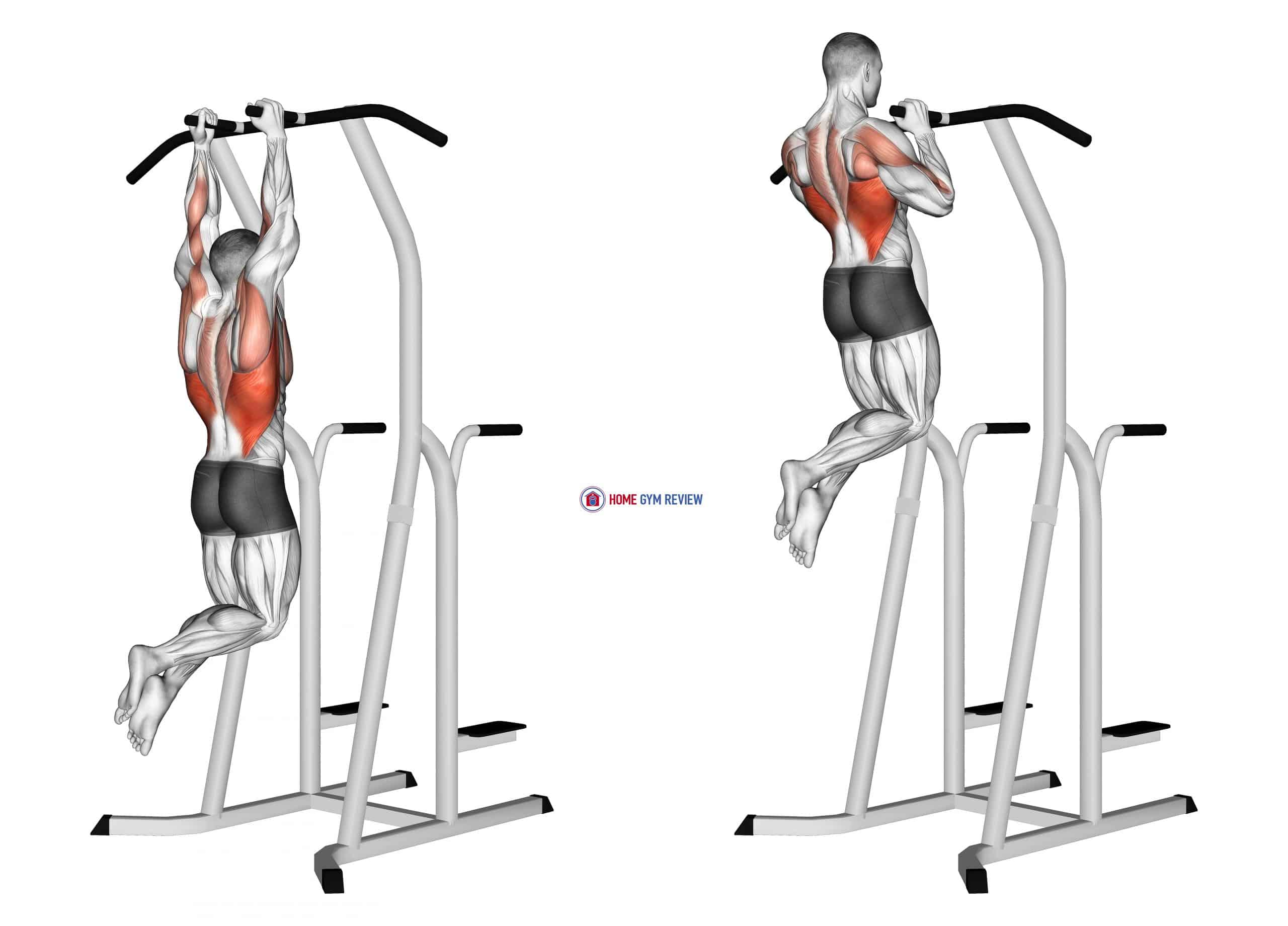 Hammer Grip Pull-up on Dip Cage