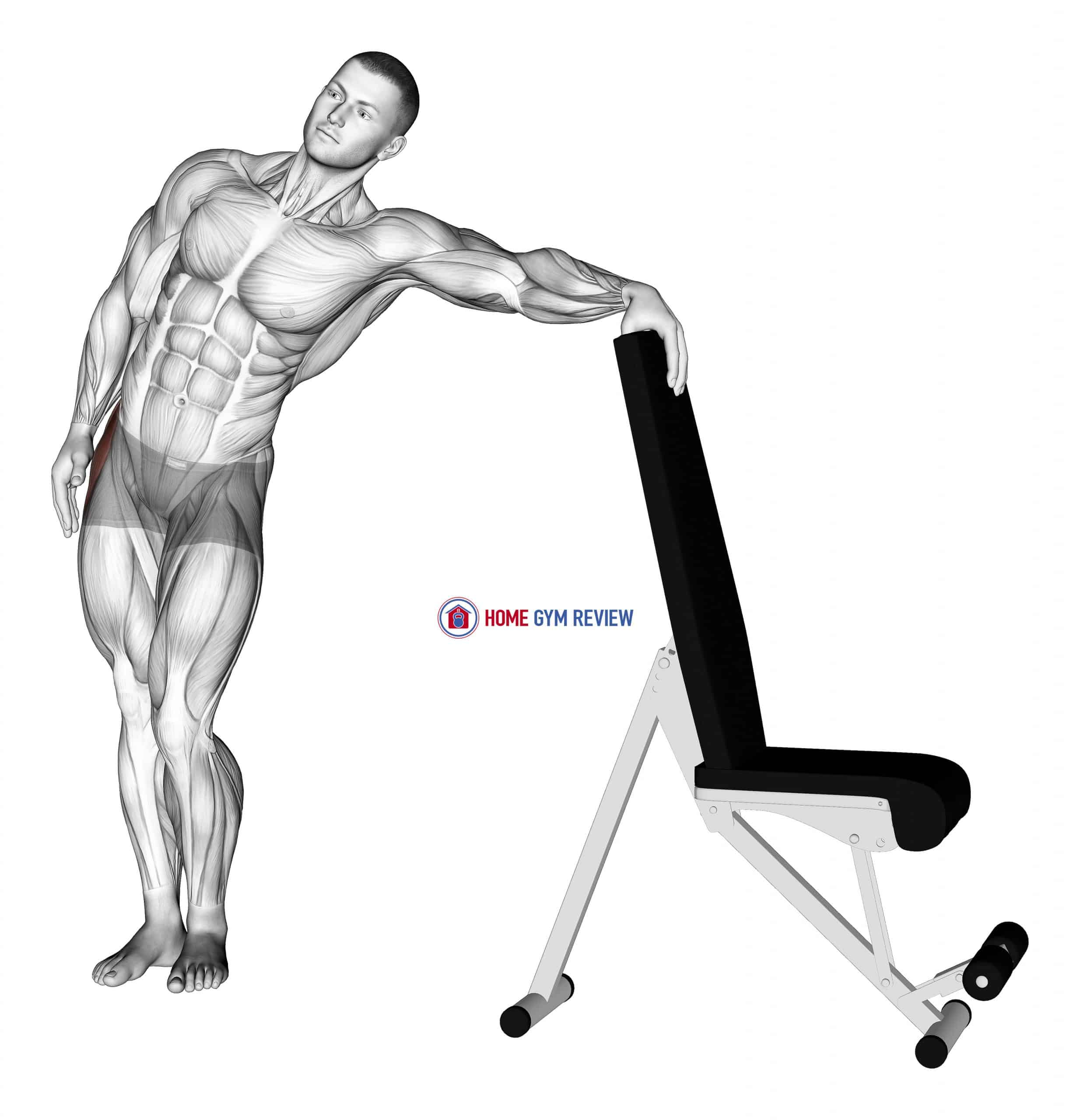 Standing Hip Out Adductor Stretch
