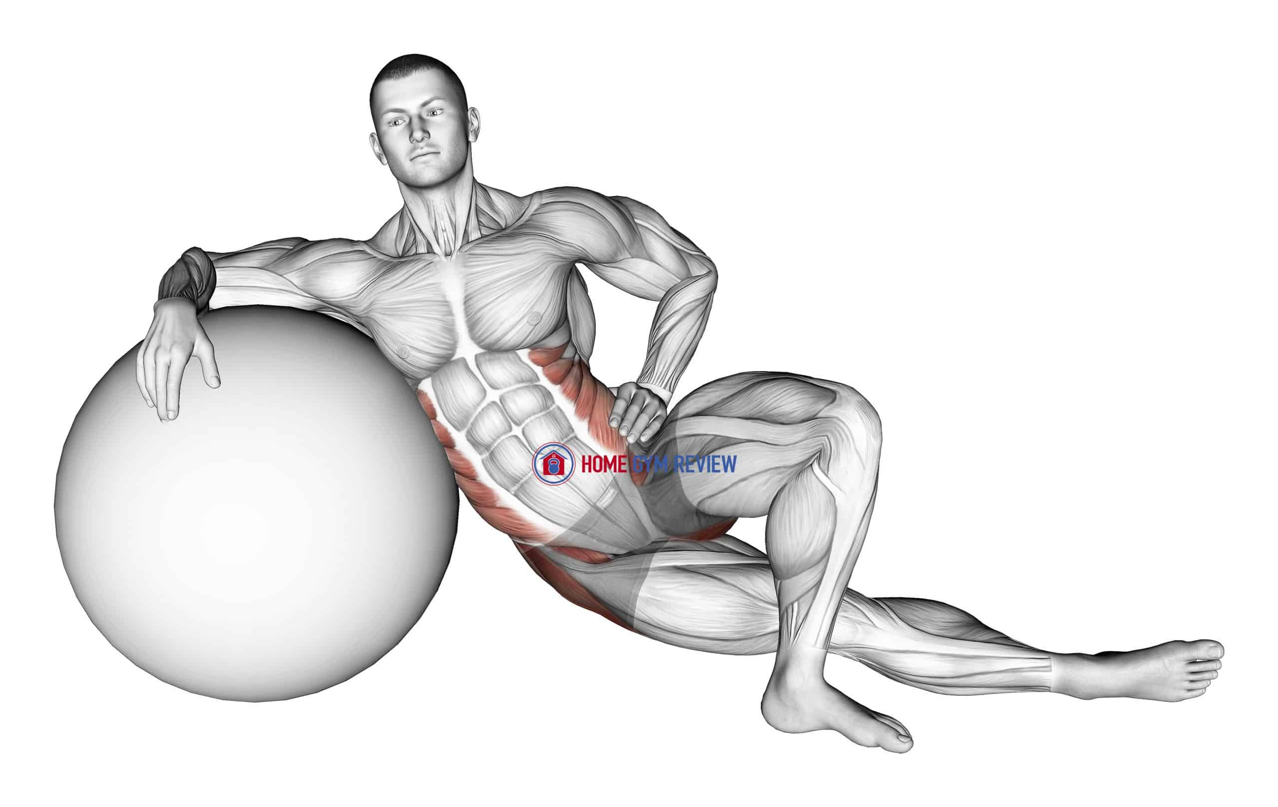 Exercise Ball Lying Abductor Stretch