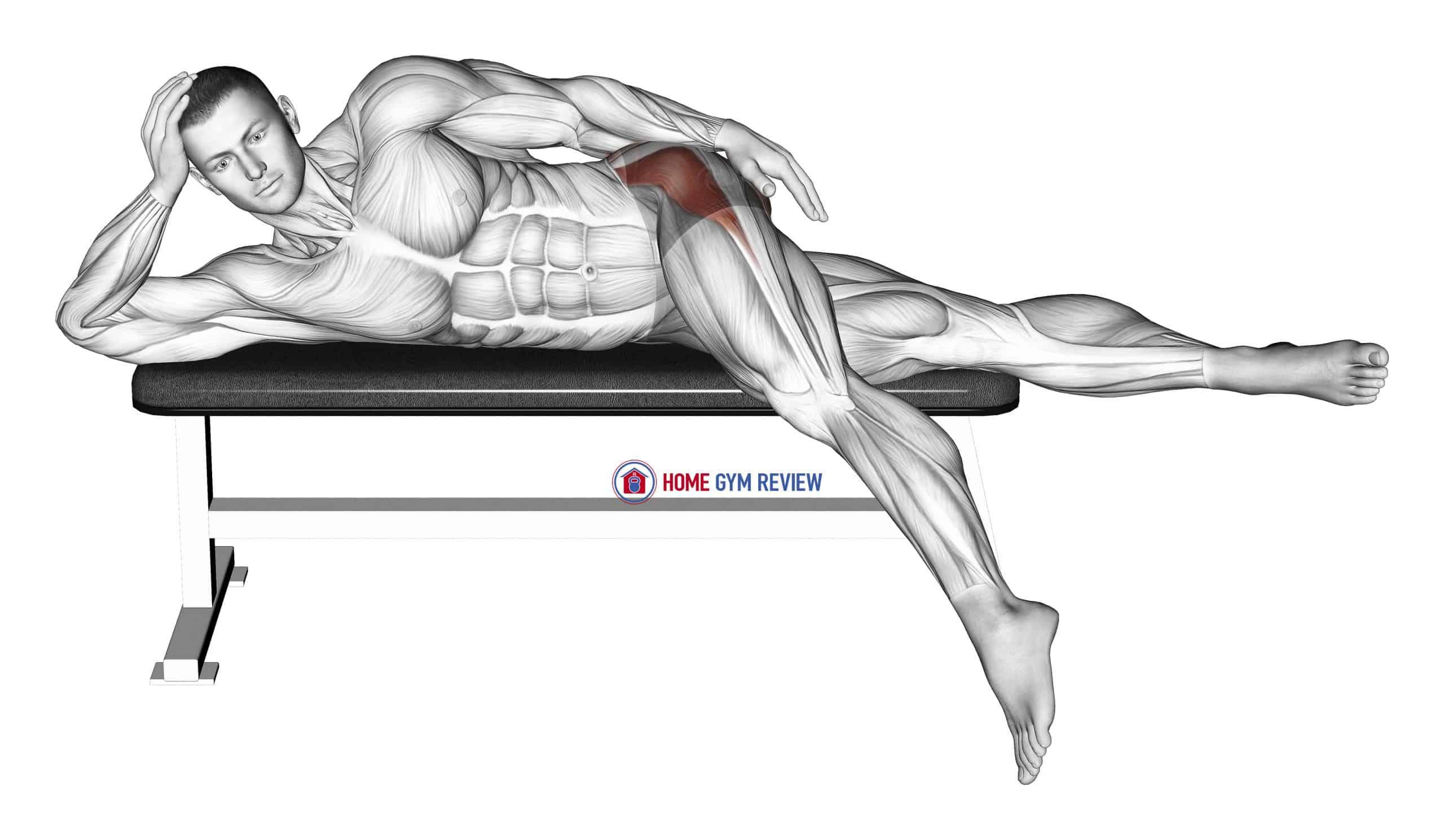 Lying Leg Hang Abductor Stretch