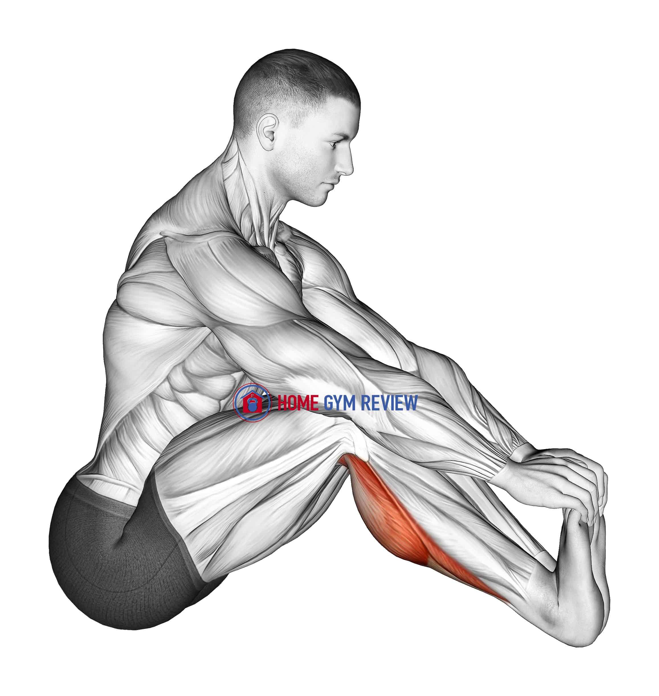 Sitting Toe Pull Achilles Stretch
