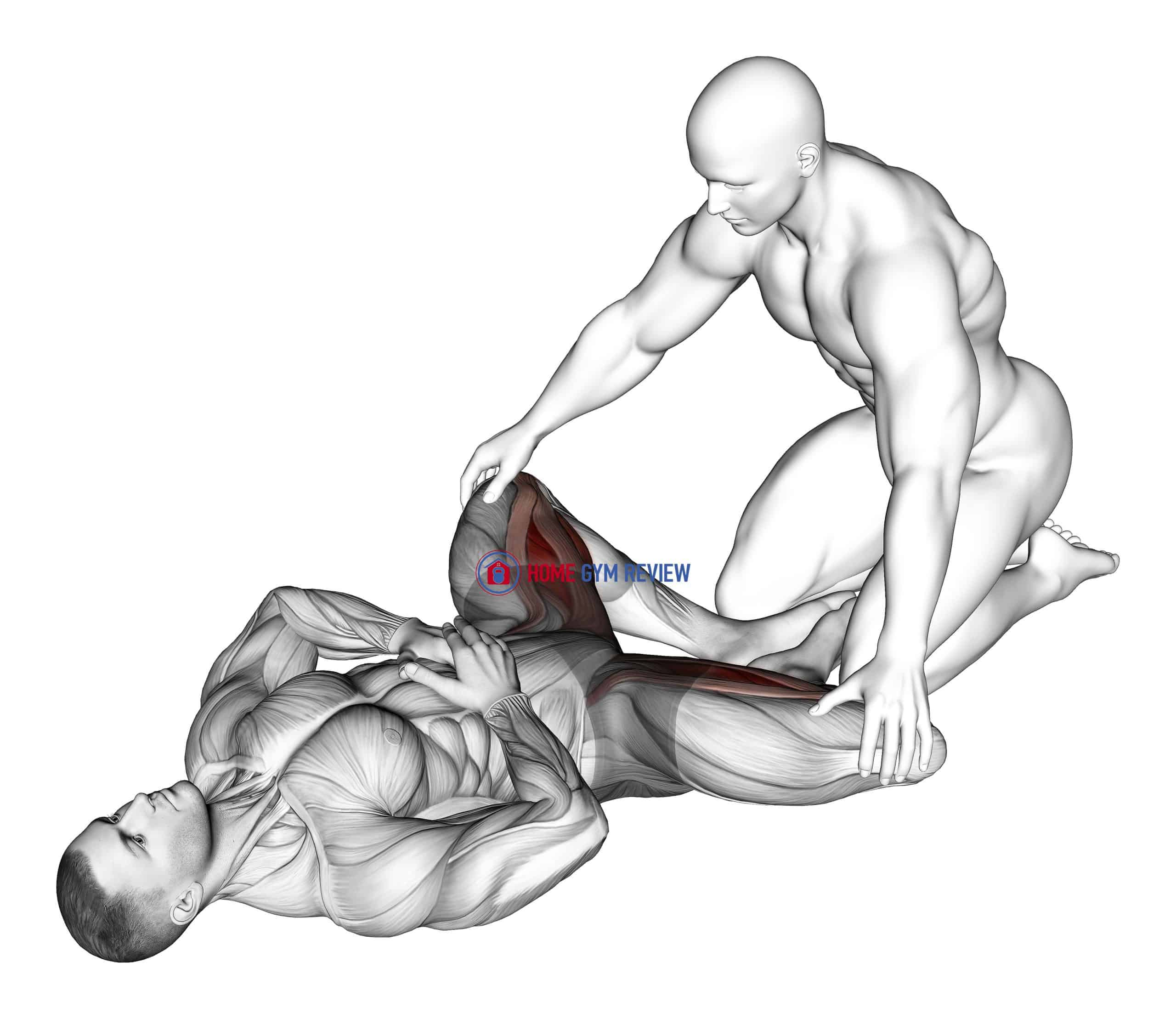 Assisted Lying Adductors Stretch