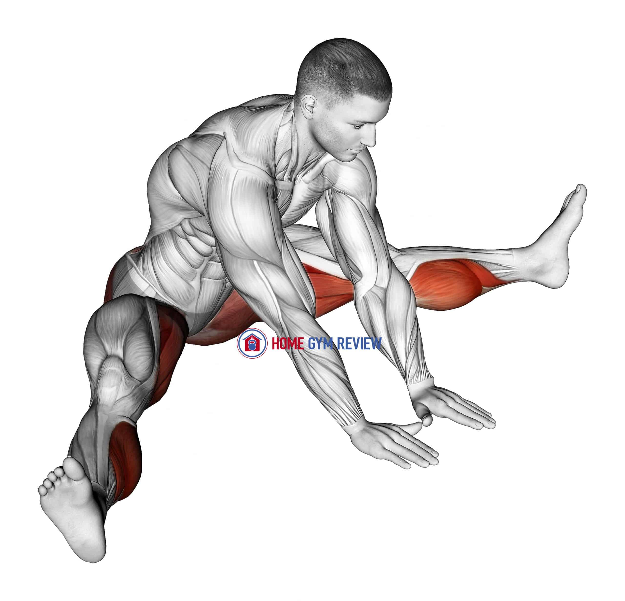 Seated Knee Flexor And Hip Adductor Stretch